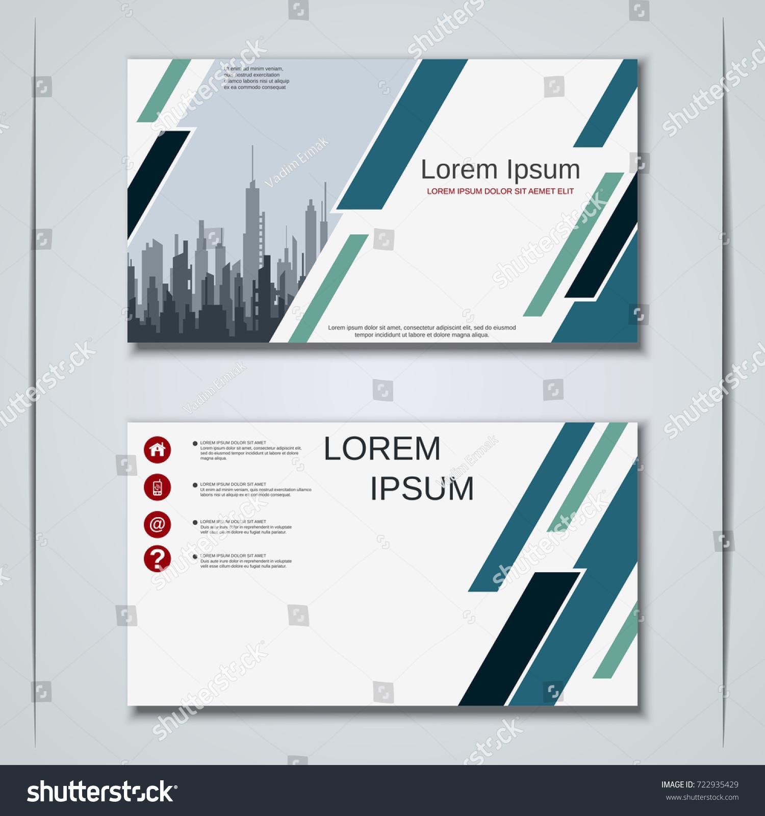 Modern Business Visiting Card Label Sticker Stock Vector 722935429 ...