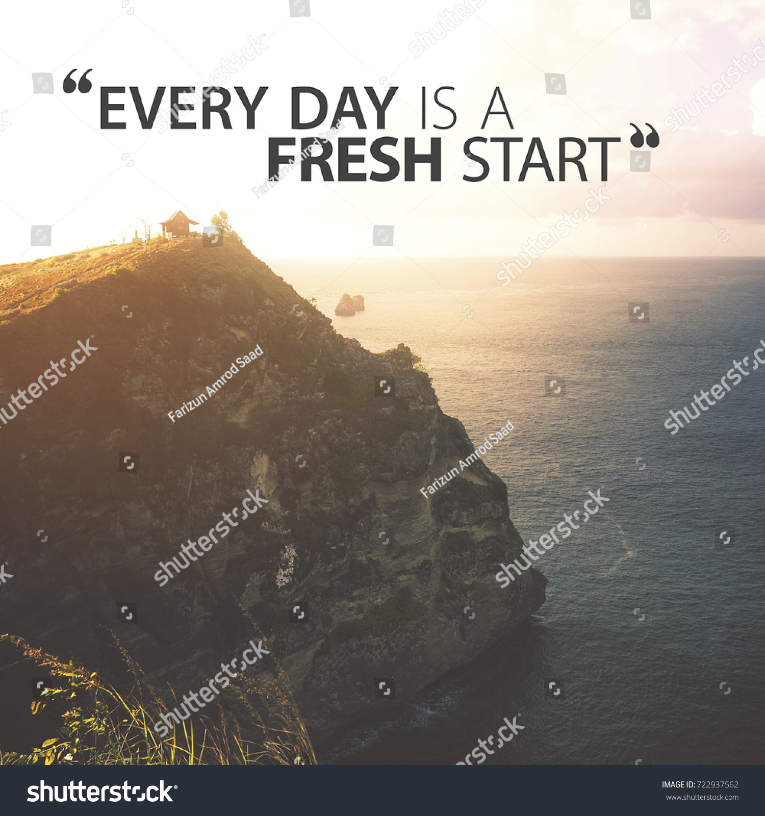 Morning Motivational Quotes Lettering Quotes Motivation Life Happiness Morning Stock Photo