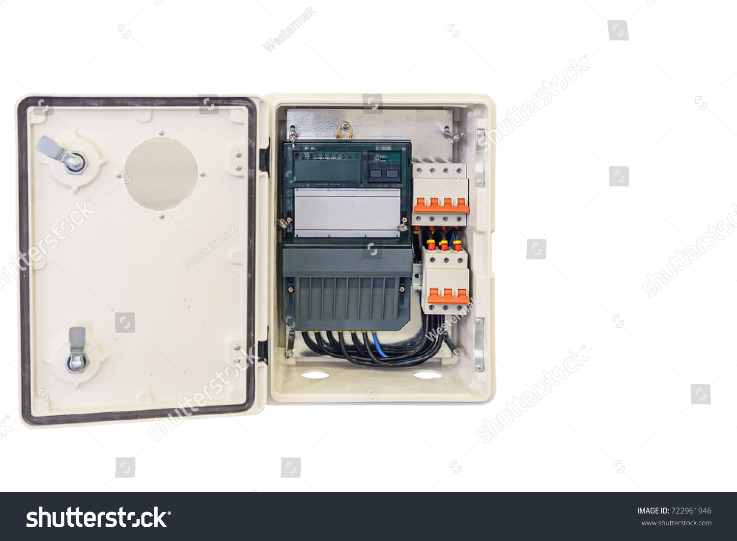 Modern Household Electricity Meter Switching Device Stock Photo ...