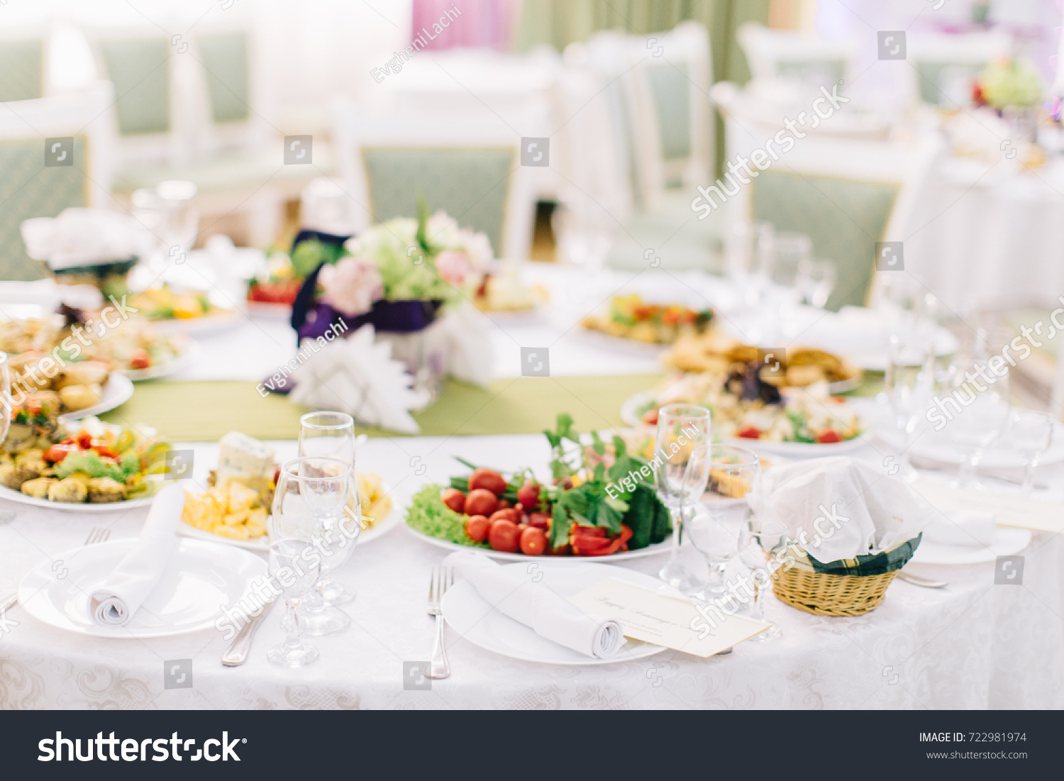 Banquet Table Setting Catering Table Set Stock Photo Edit Now - Catering table setting