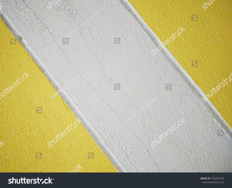 Stylish Yellow White Paint On Concrete Stock Photo 722991454 ...