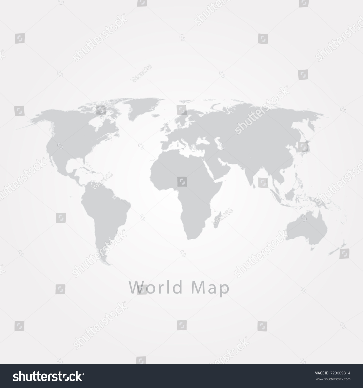 Gray world map vector illustration stock vector 723009814 gray world map vector illustration gumiabroncs Gallery