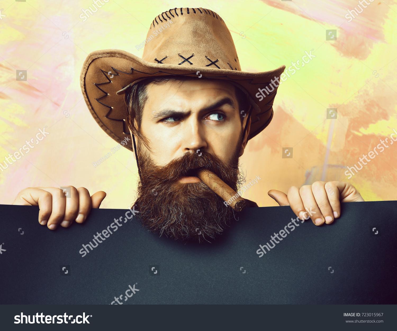 Bearded Man Long Beard Brutal Caucasian Stock Photo (Edit Now ...