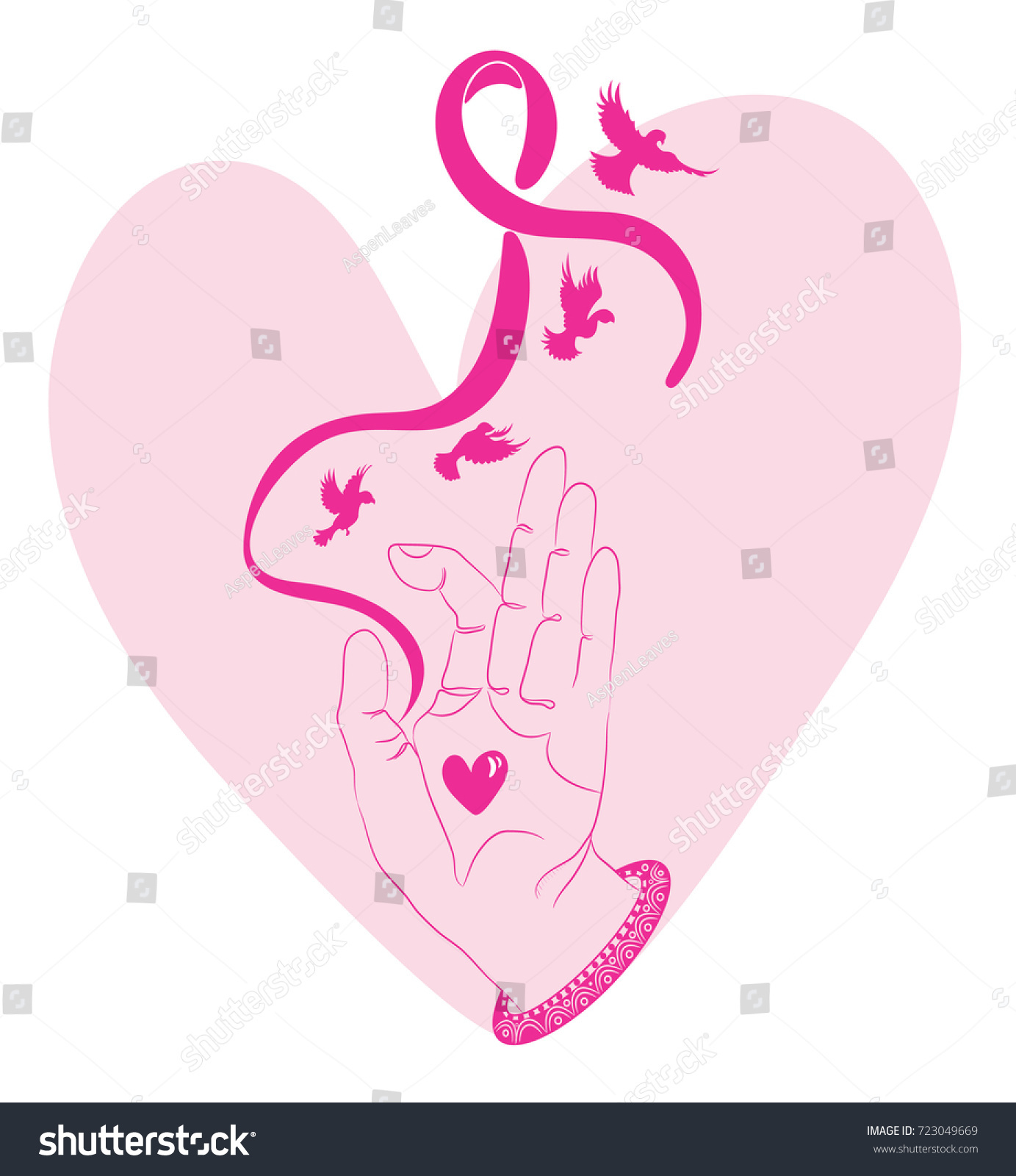 Breast cancer awareness month symbol international stock breast cancer awareness month symbol international health campaign for woman in octobera female biocorpaavc Choice Image