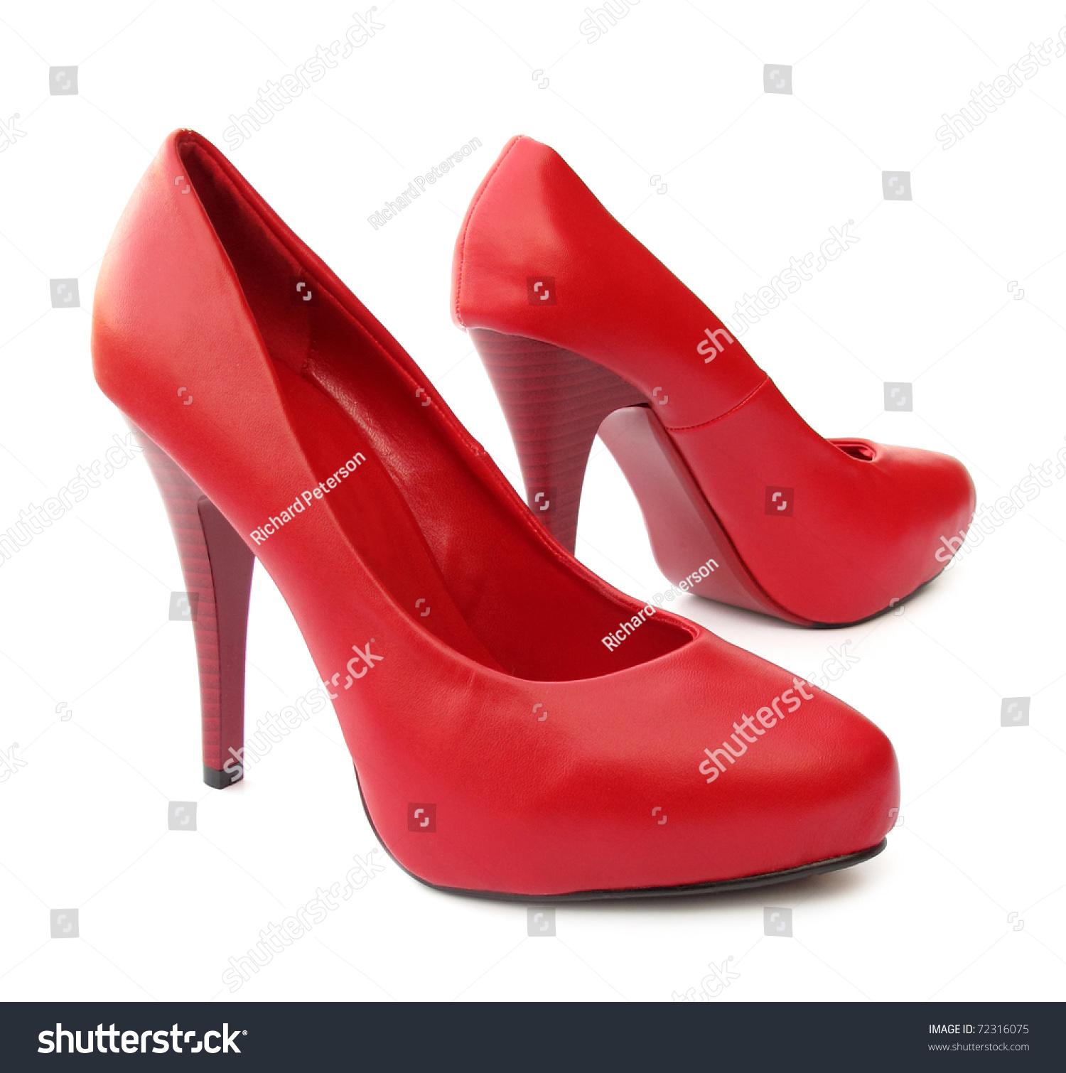 Red High Platform Heels