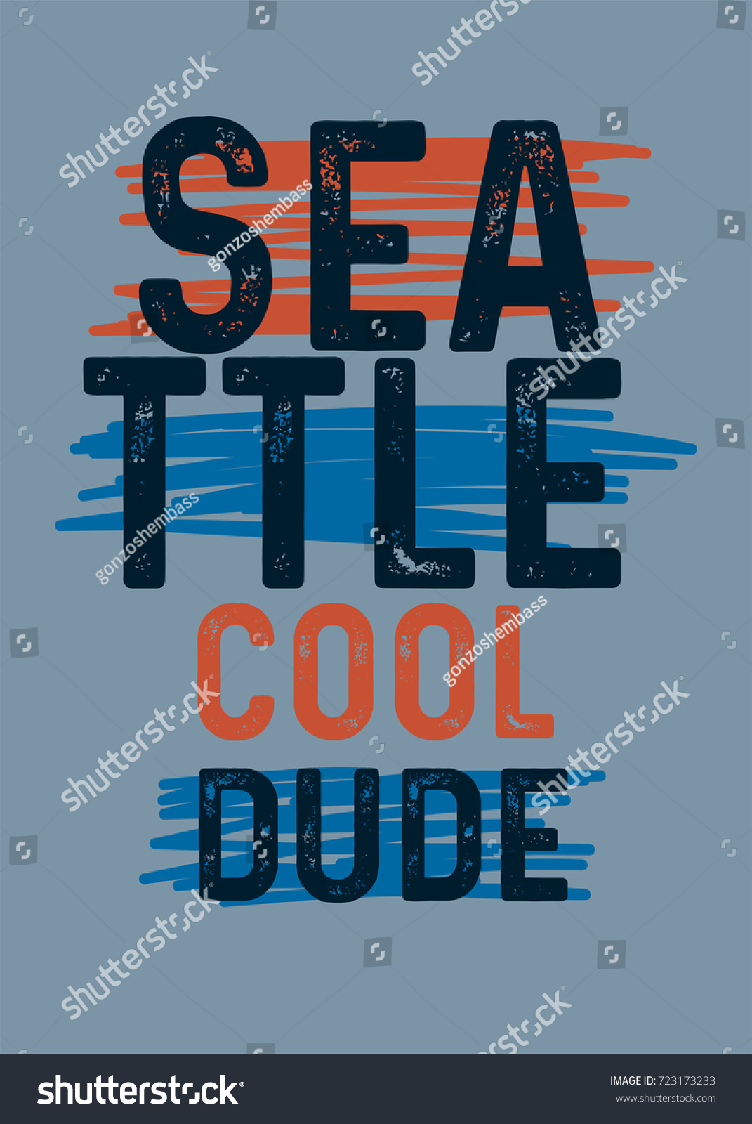 Seattle Cool Dudetshirt Print Poster Vector Stock Vector Royalty