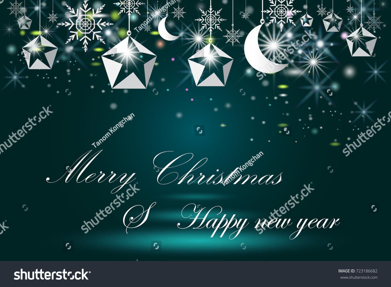 Elegant Christmas Background With Snowflakes Stock Vector: Elegant Christmas Poster Template Snowflakes Star Stock