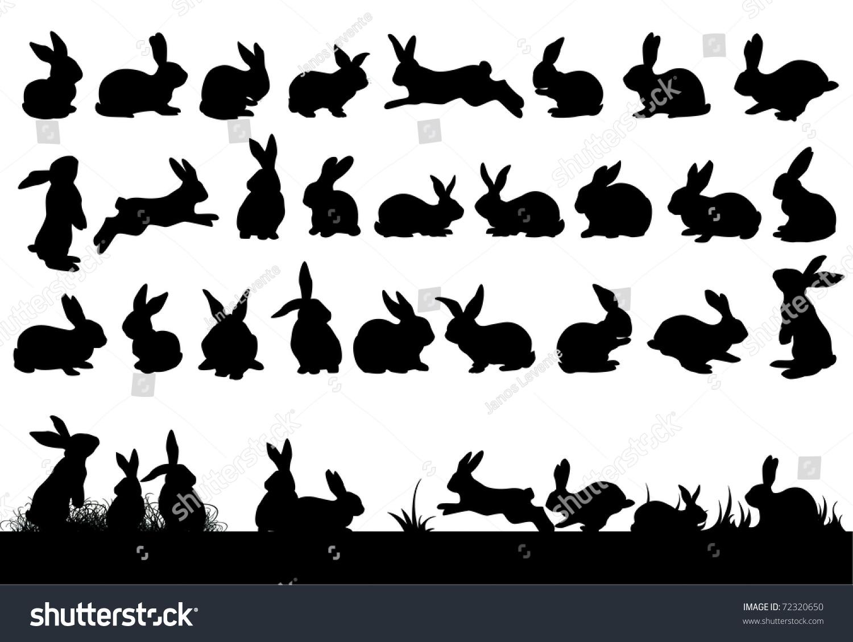 Rabbit Ears Silhouette Rabbit Silhouettes Eas...