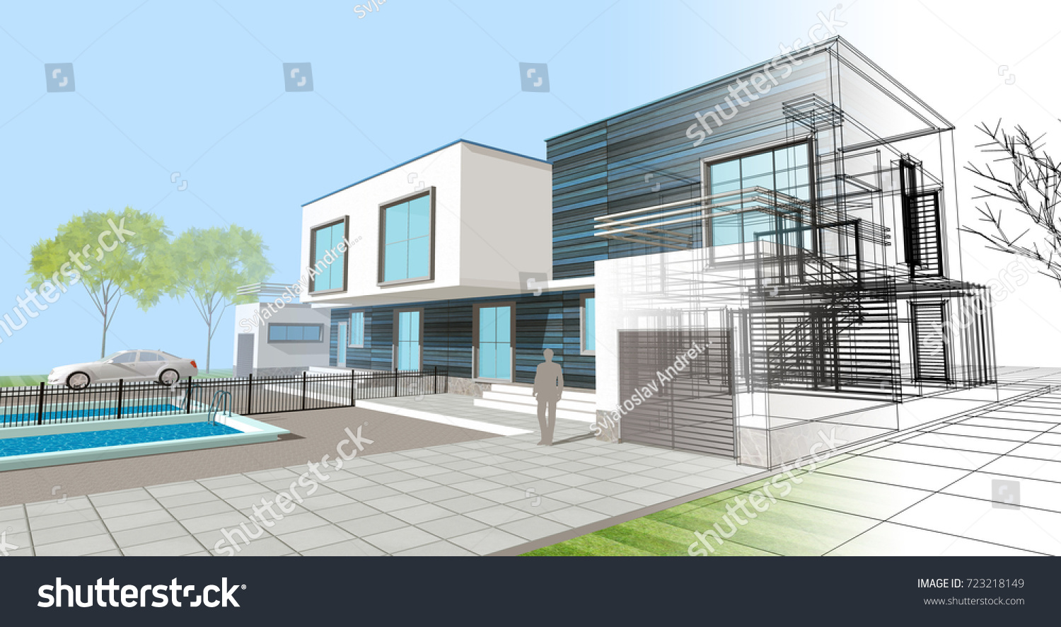 Townhouse Terrace Architectural Sketch 3 D Illustration Stock ... on townhouse condo, townhouse floor plans, townhouse with garage, townhouse stoop, townhouse construction, townhouse elevations, townhouse rentals, townhouse living, townhouse from inside,