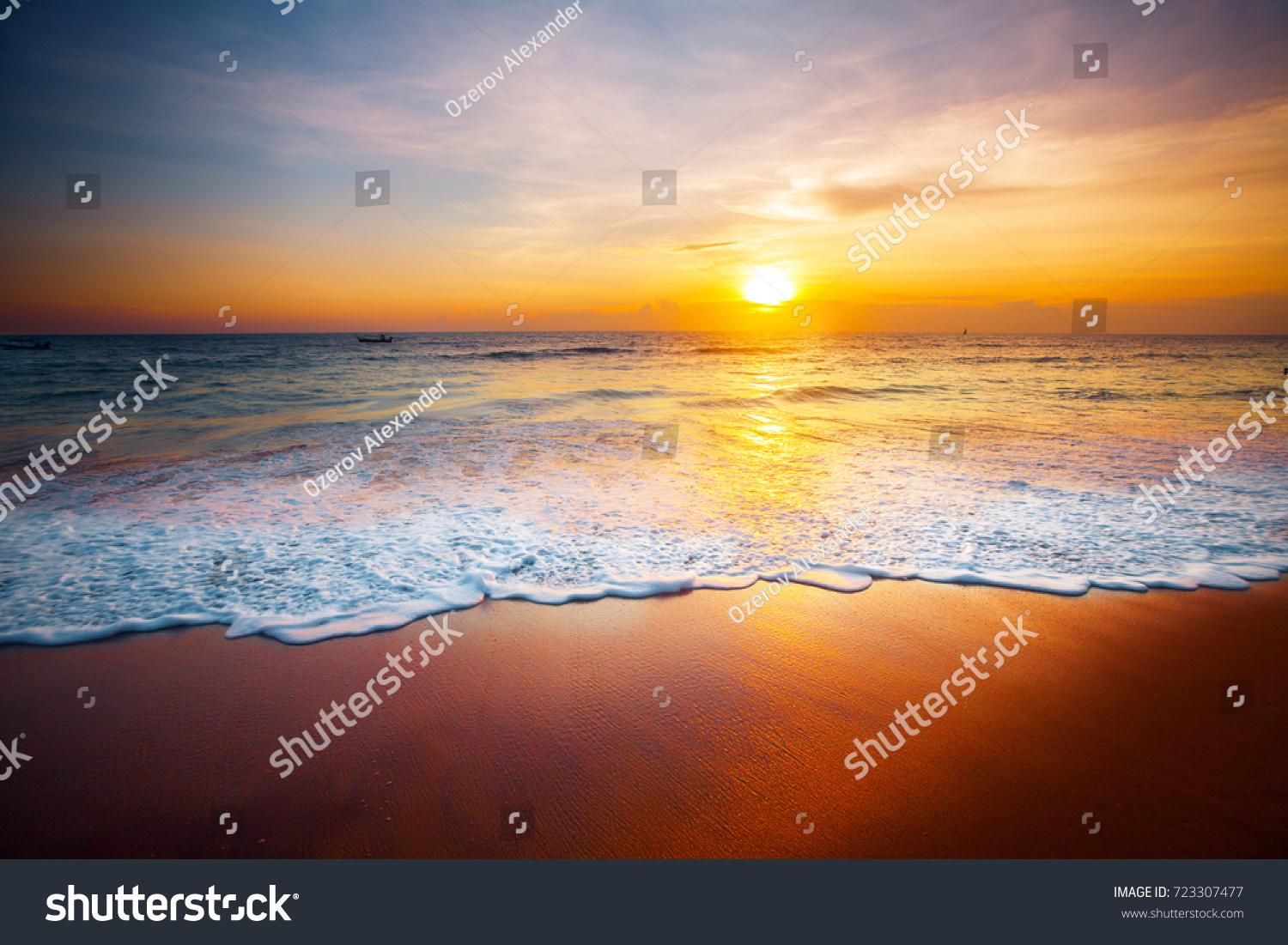sunset and sea #723307477