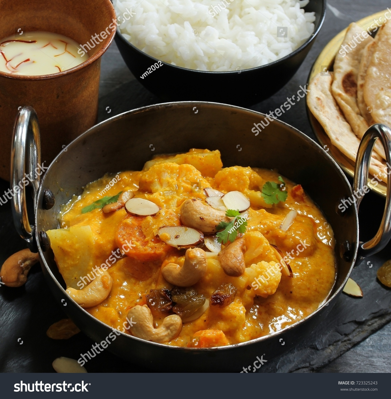 Vegetable navratan korma indian mixed veg stock photo royalty free vegetable or navratan korma indian mixed veg curry served with roti and rice forumfinder Gallery