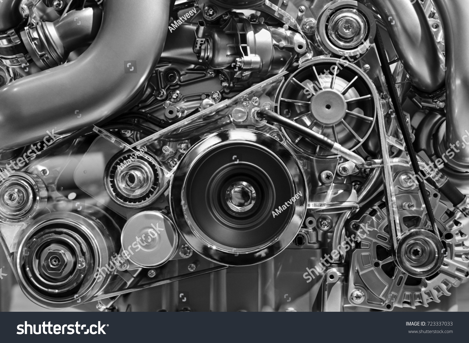 Car Engine Concept Modern Vehicle Motor Stock Photo 723337033 ...