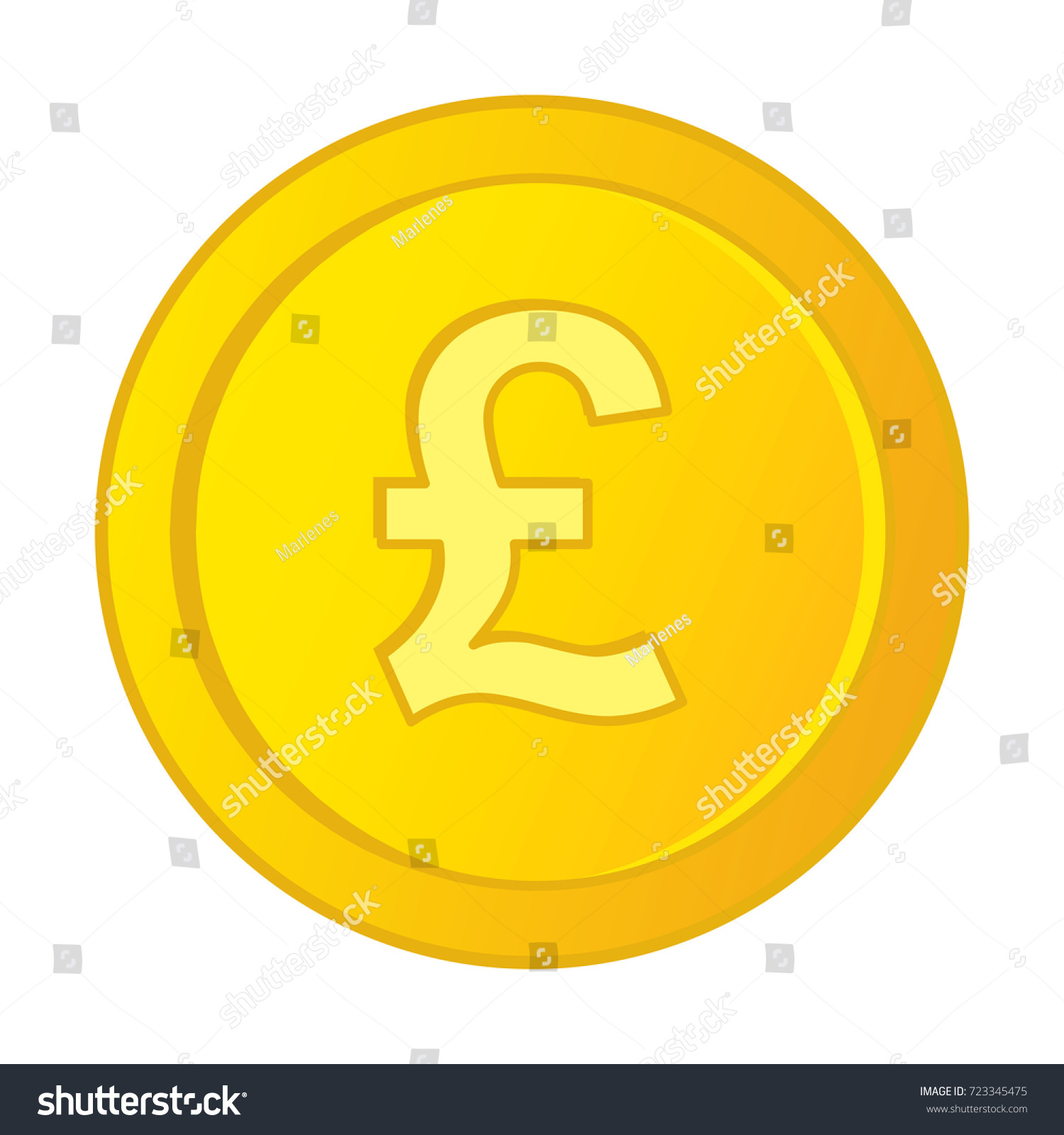 Vector british pound sterling symbol on stock vector 723345475 vector british pound sterling symbol on gold coin british pound coin vector illustration biocorpaavc Gallery