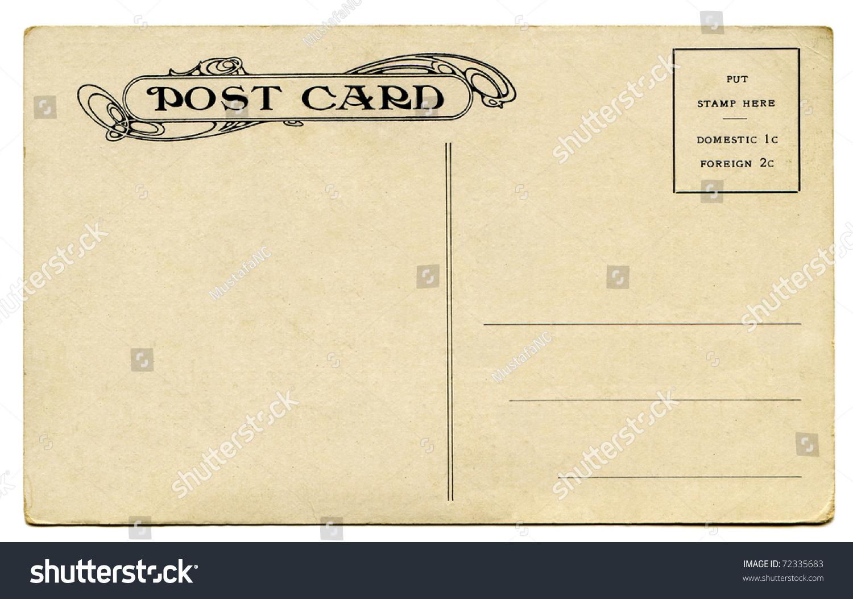 Antique Postcard Back Stock Photo 72335683 - Shutterstock