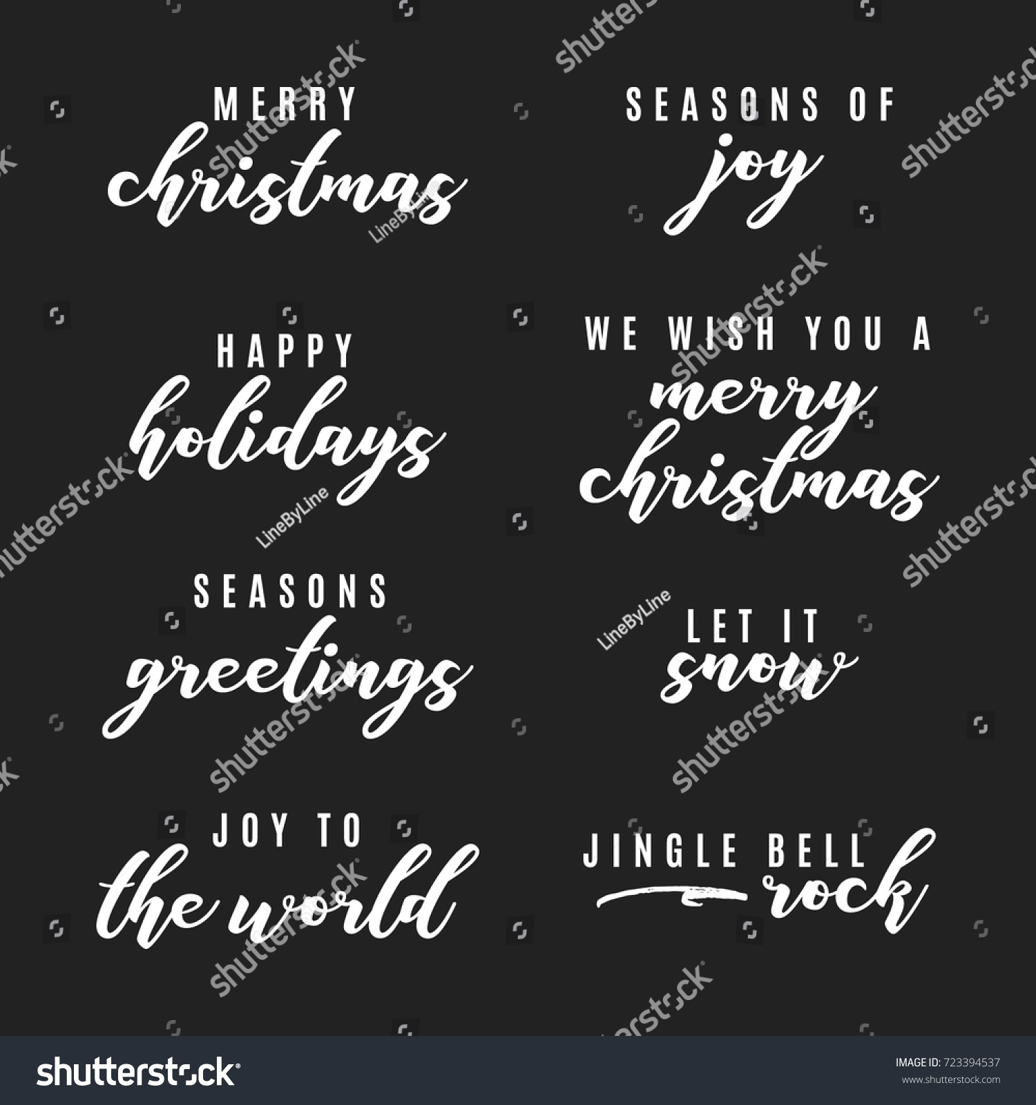 Happy holidays merry christmas seasons greetings stock vector happy holidays merry christmas seasons greetings joy to the world vector text icon kristyandbryce Choice Image