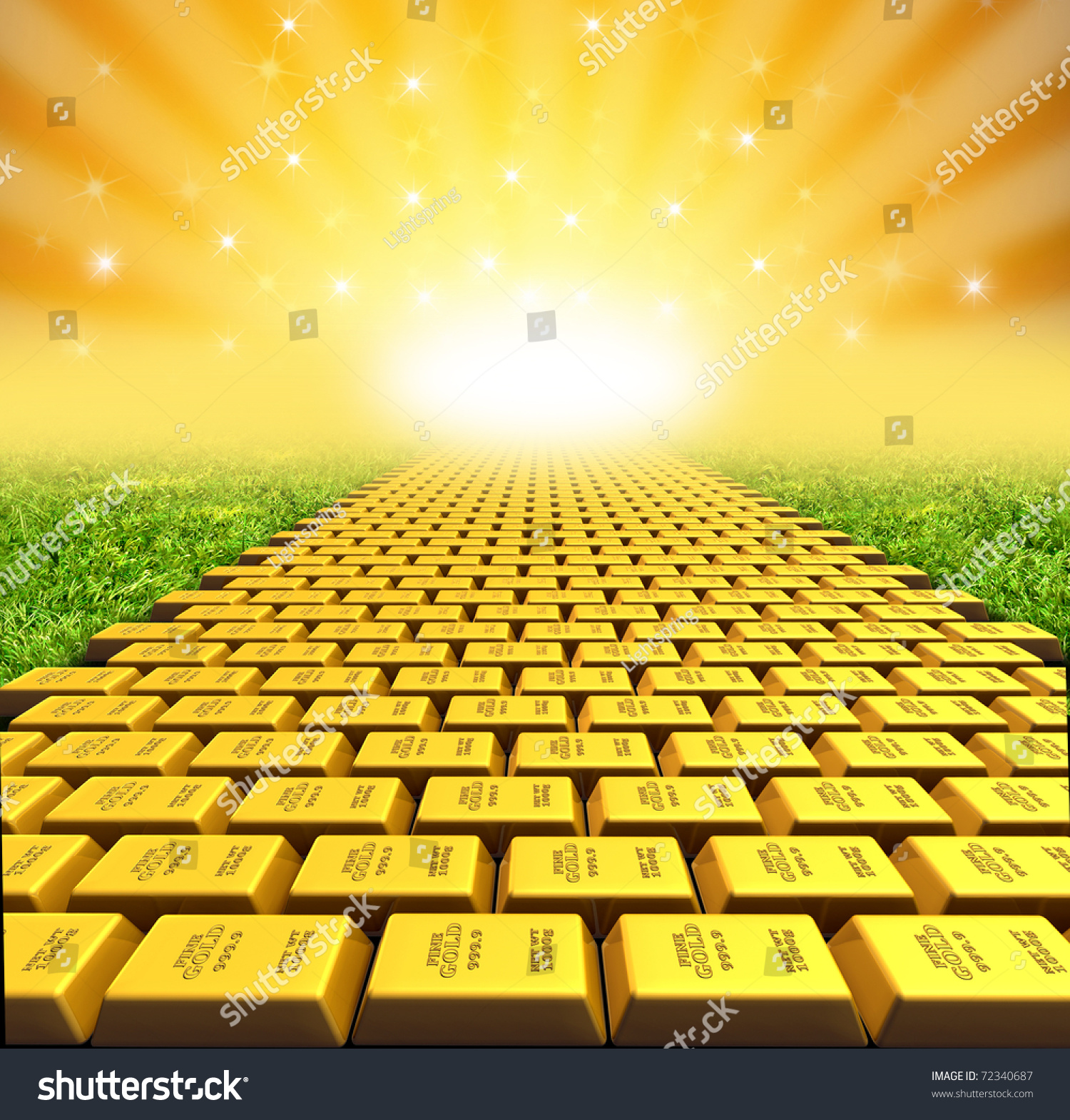 Yellow Brick Road Symbol Represented By Stock Illustration