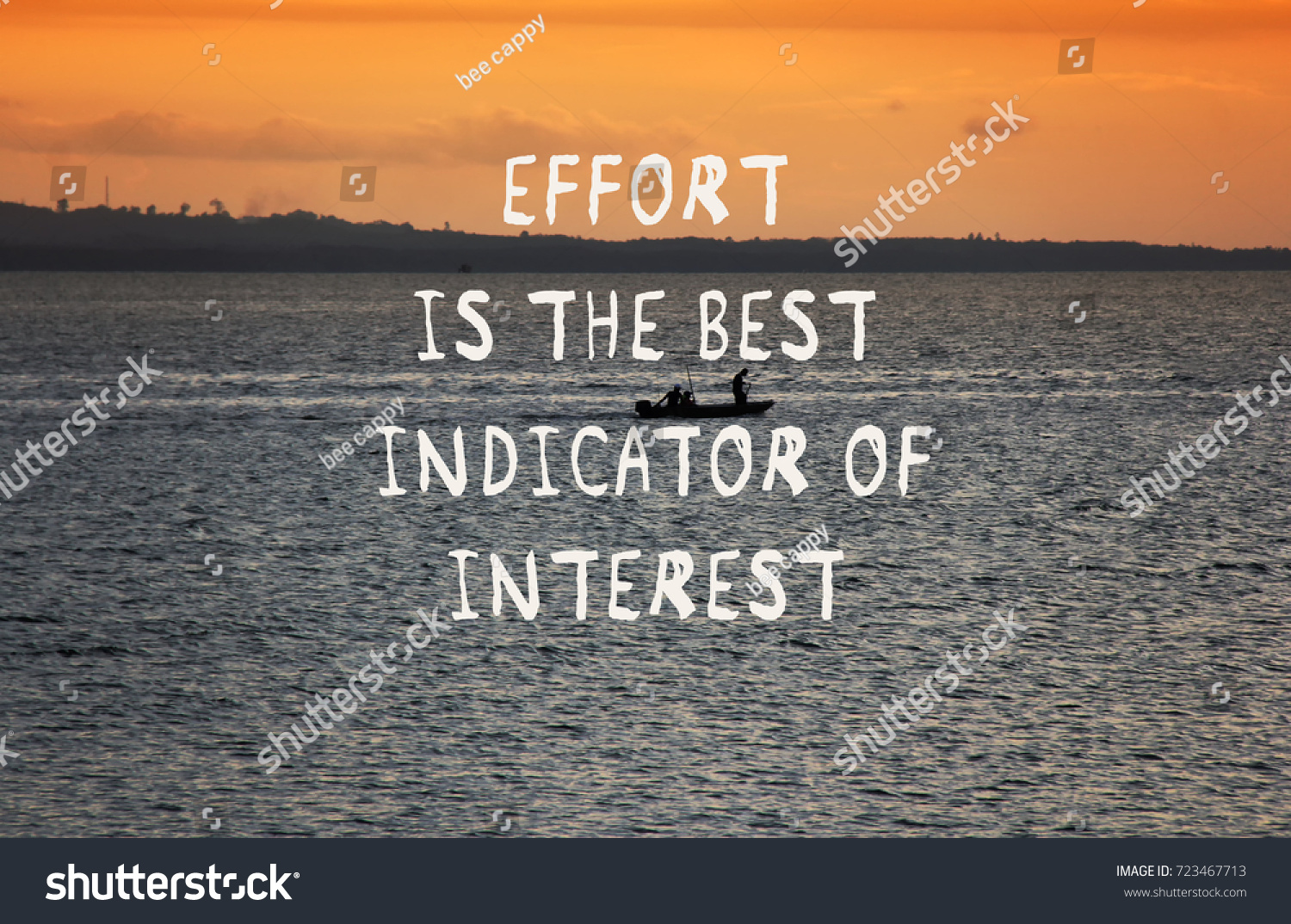 Quotes Effort Motivational Quotes Effort Best Indidcator Interest Stock Photo