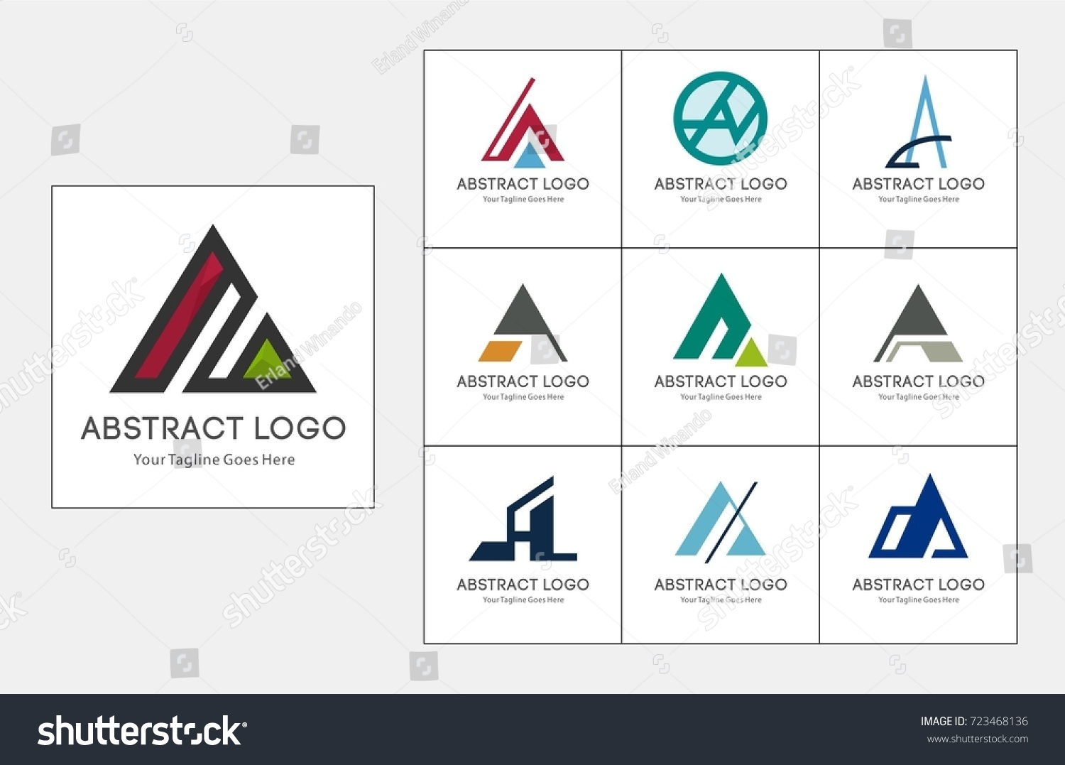 Letter logo icon design template elements stock vector royalty free letter a logo icon design template elements vector sign business card templates business friedricerecipe Gallery