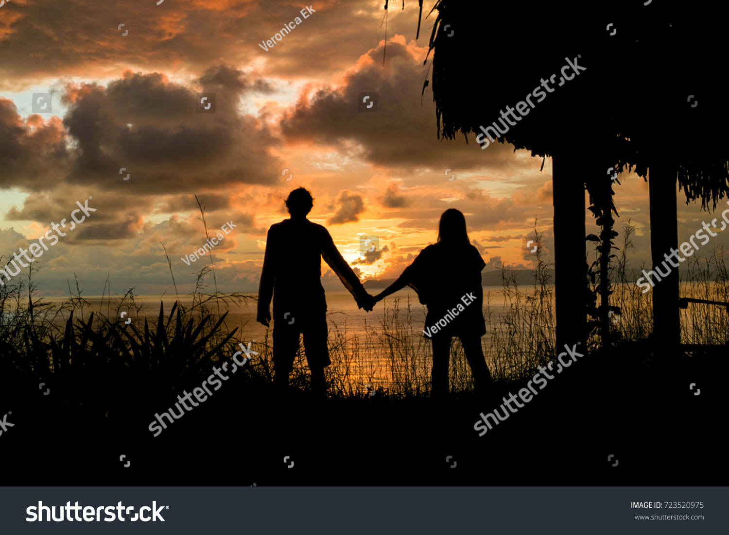 Silhouette Couple Holding Hands Sunset Stock Photo 723520975 ... for Couple Holding Hands Silhouette Sunset  183qdu
