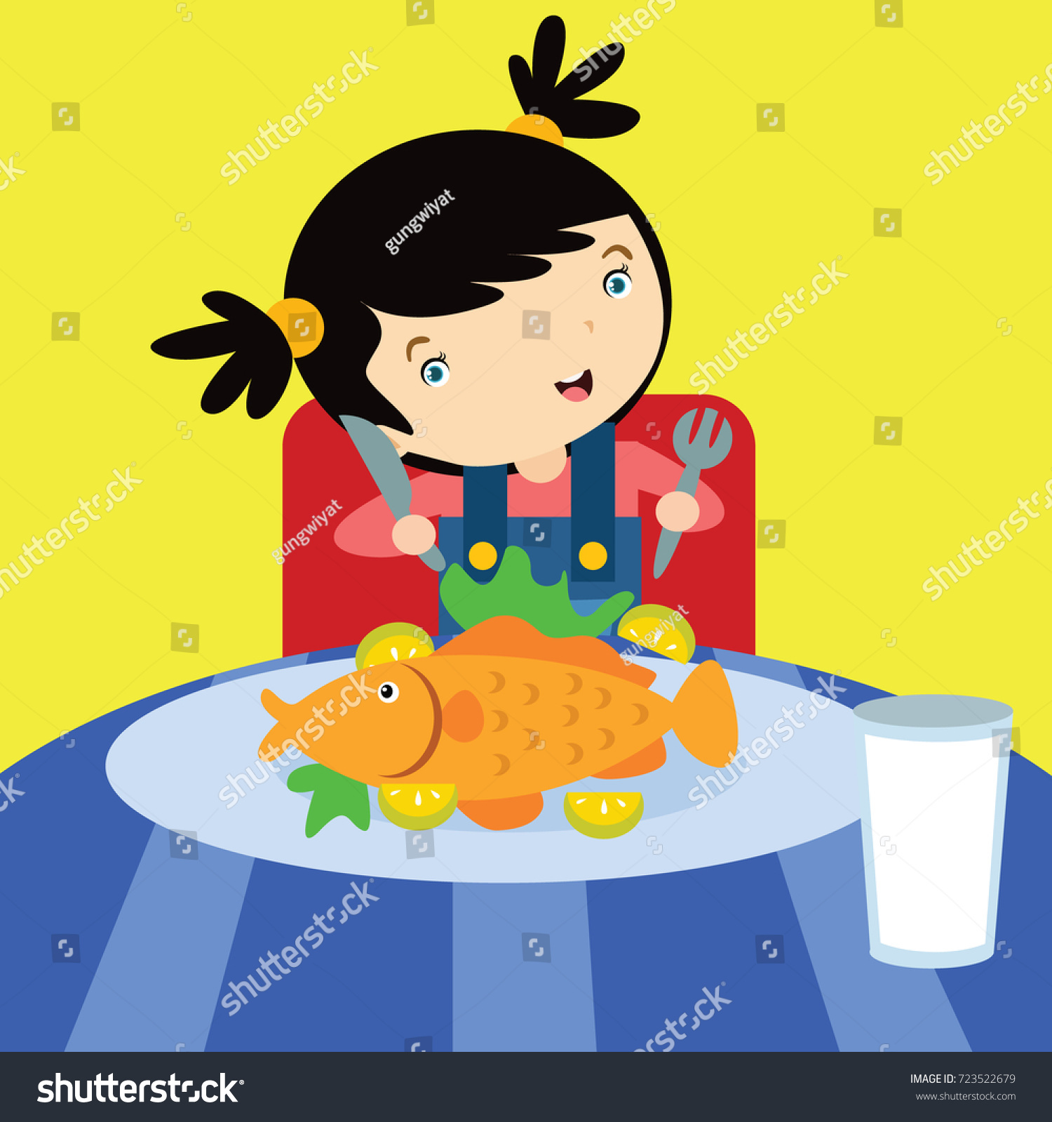 Eat Healthy Food Campaign Kid No Stock Vector Royalty Free 723522679