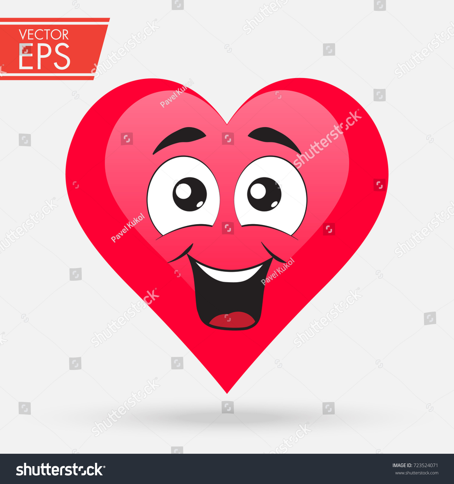 Valentines Day Heart Cute Love Cartoon Stock-Vektorgrafik ...