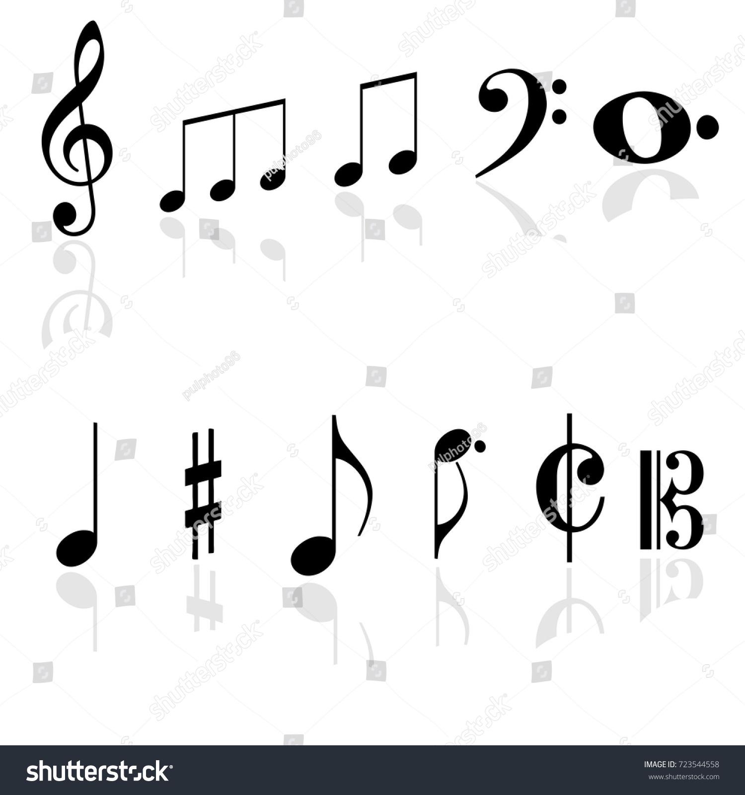 Music notes symbols vectors stock vector 723544558 shutterstock music notes symbols vectors buycottarizona