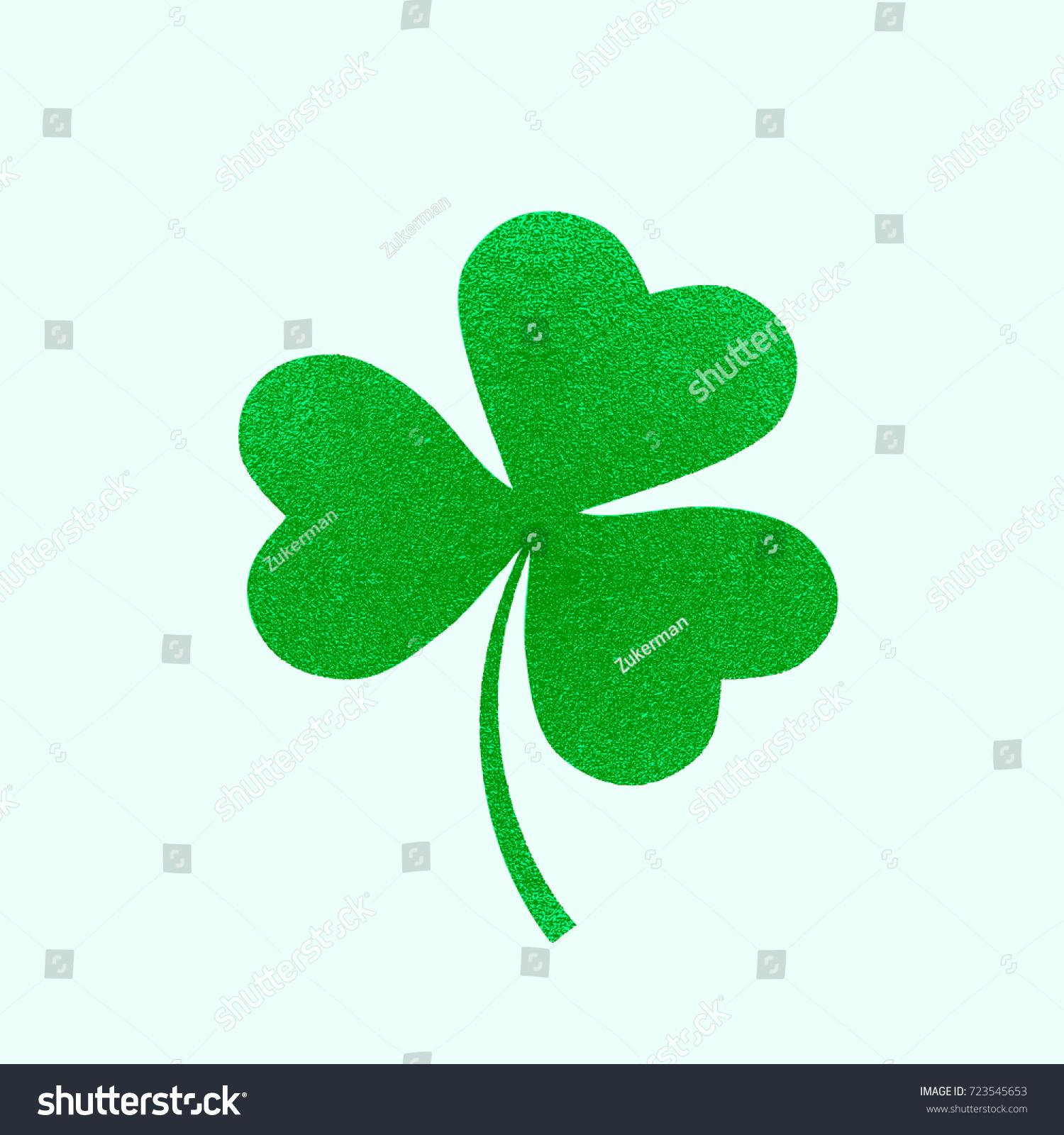 irish holiday saint patricks day leaves stock vector 723545653