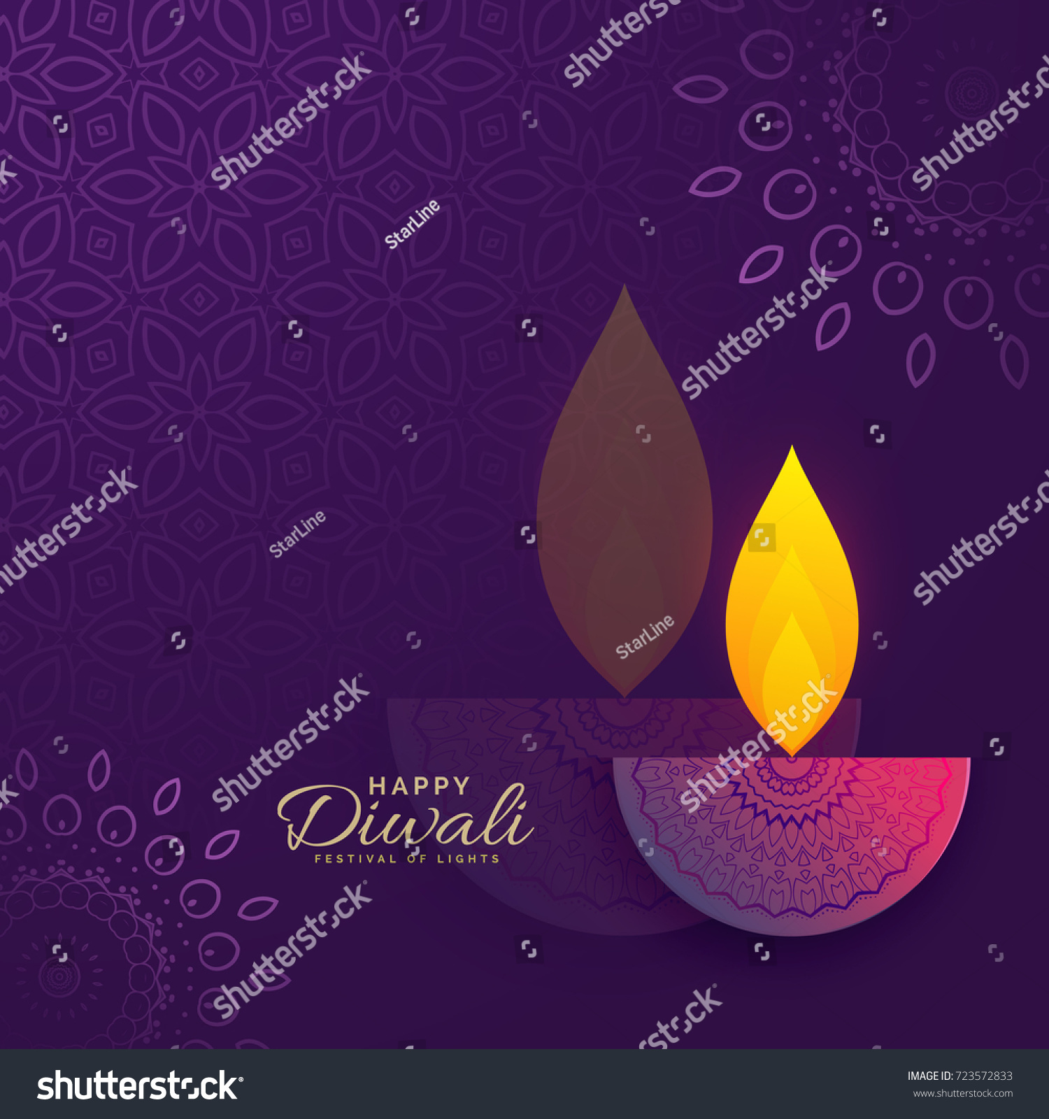 Diwali greeting card design creative diya stock vector 723572833 diwali greeting card design with creative diya and ornament decoration kristyandbryce Choice Image