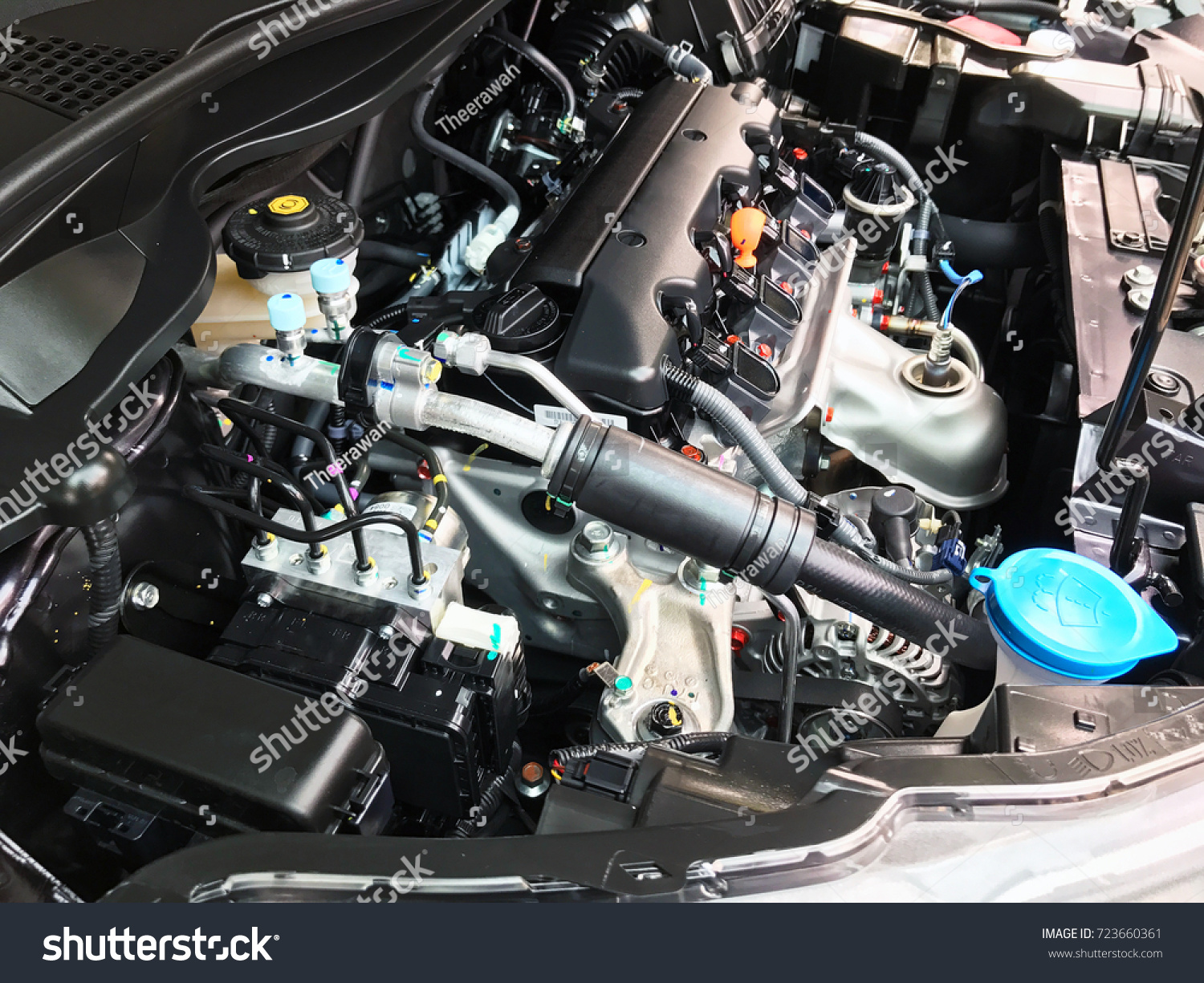 Close Part Position Car Engine Internal Stock Photo (Royalty Free ...