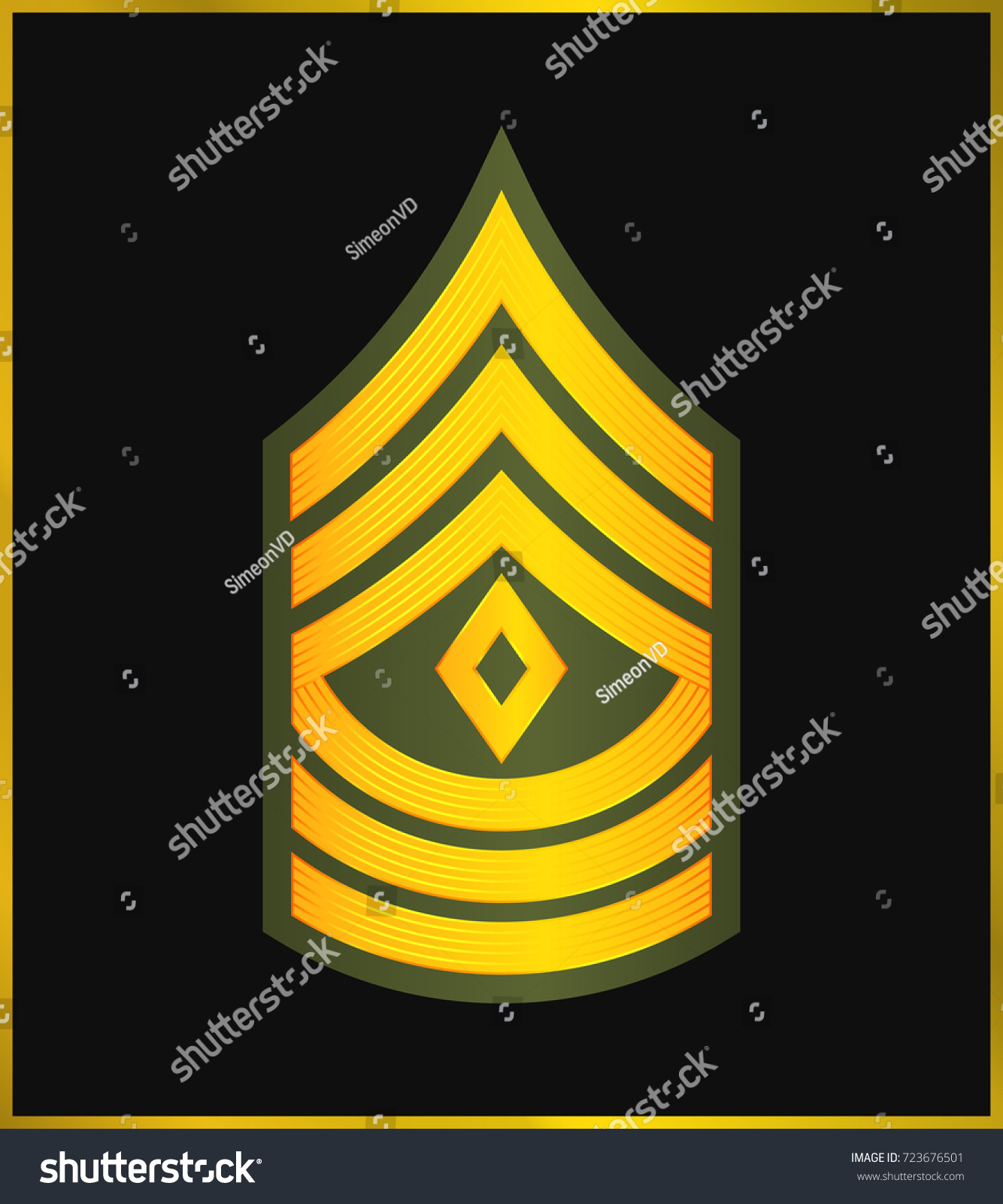 Military ranks insignia stripes chevrons army stock vector 723676501 military ranks and insignia stripes and chevrons of army first sergeant biocorpaavc Images