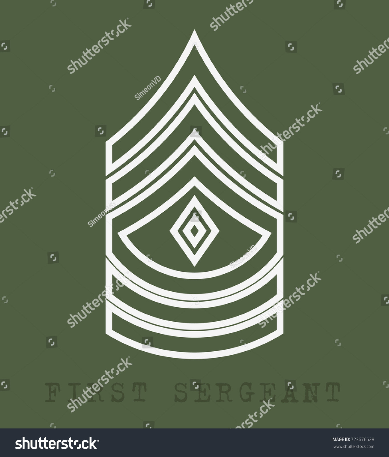 Military ranks insignia stripes chevrons army stock vector 723676528 military ranks and insignia stripes and chevrons of army first sergeant biocorpaavc Images