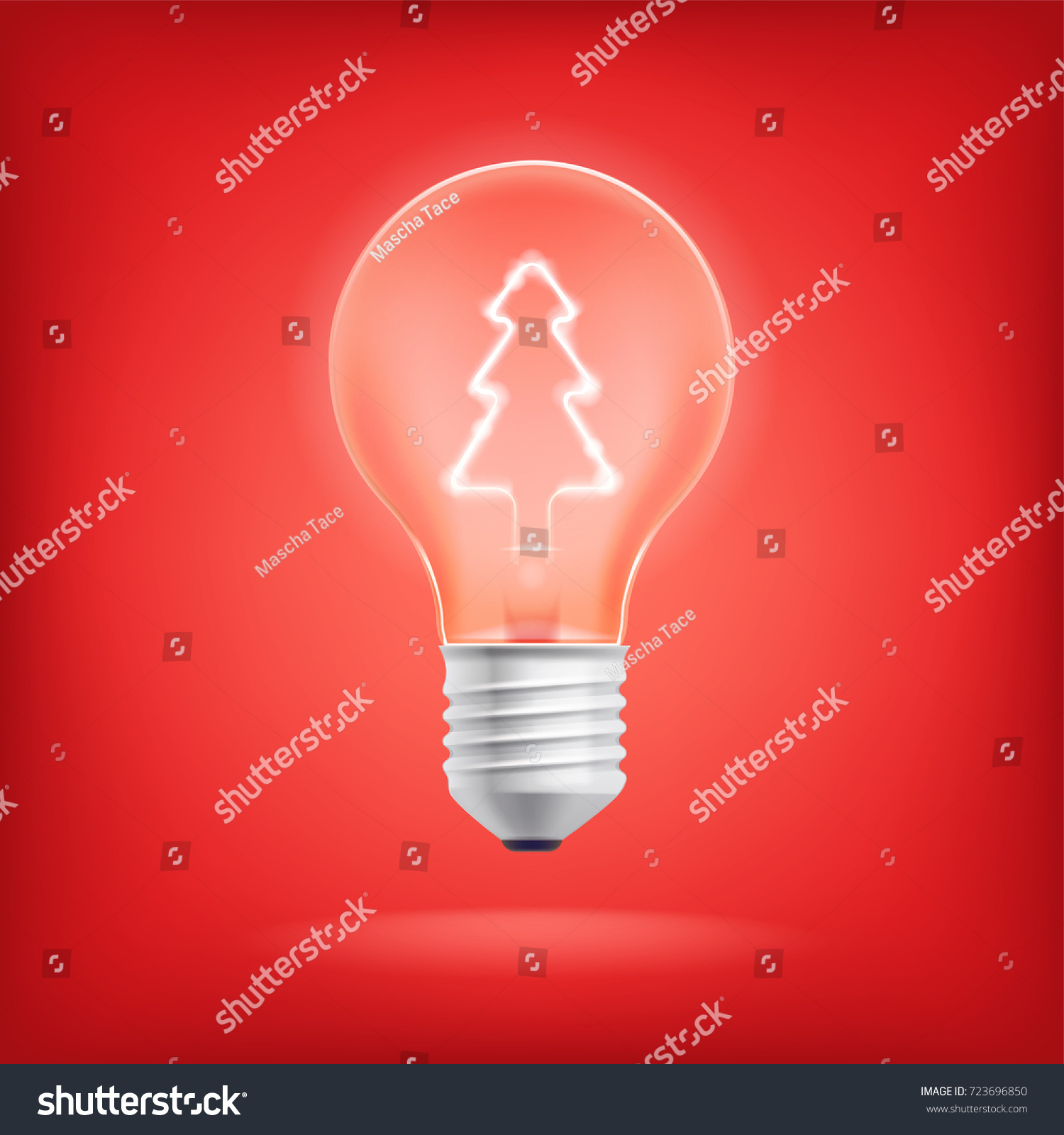 cool vector concept on christmas ideas xmas gifts ideas metaphoric visual light bulb with - Christmas Tree Light Bulb