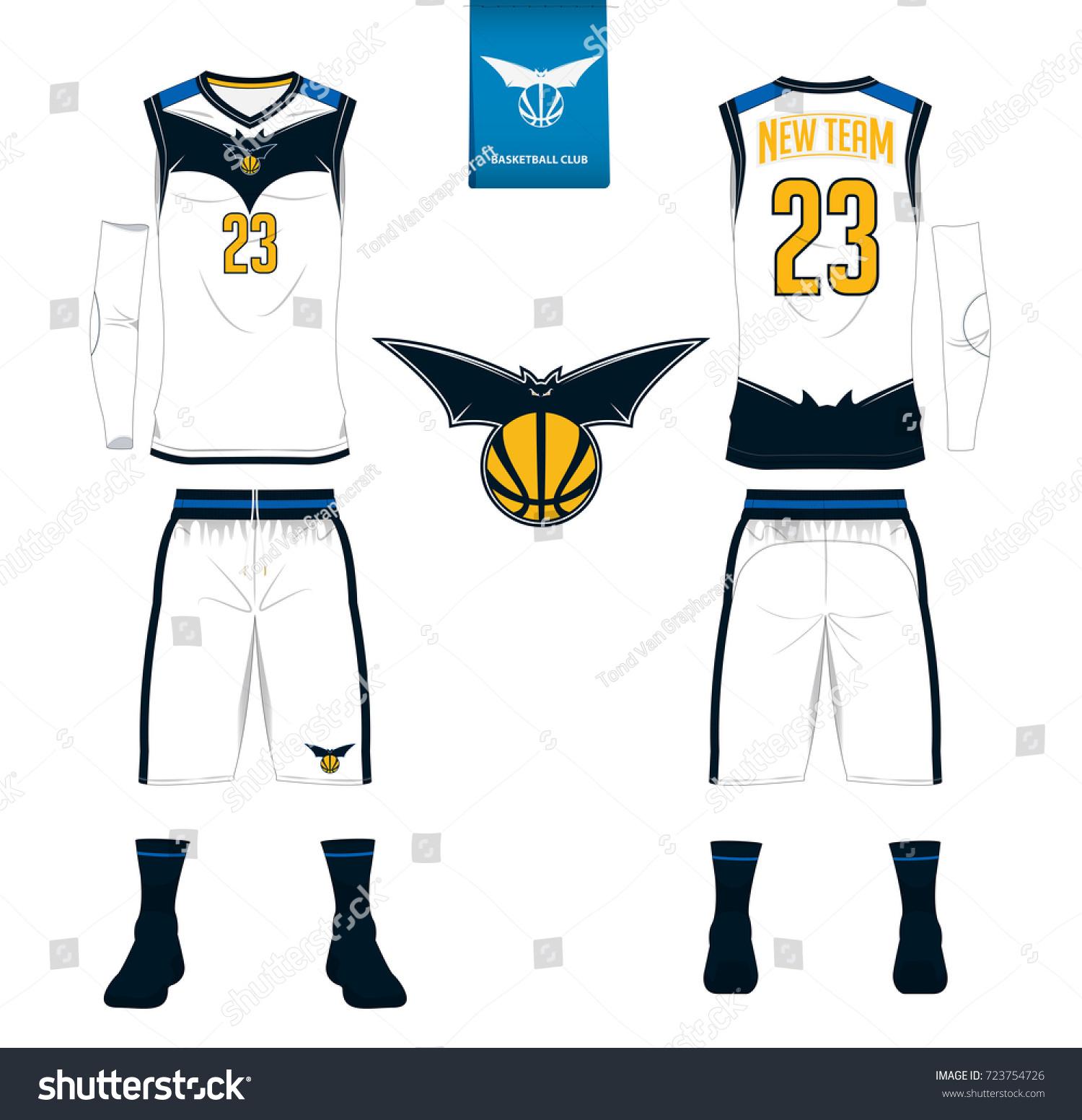 Basketball Jersey Shorts Socks Template Basketball Stock ...