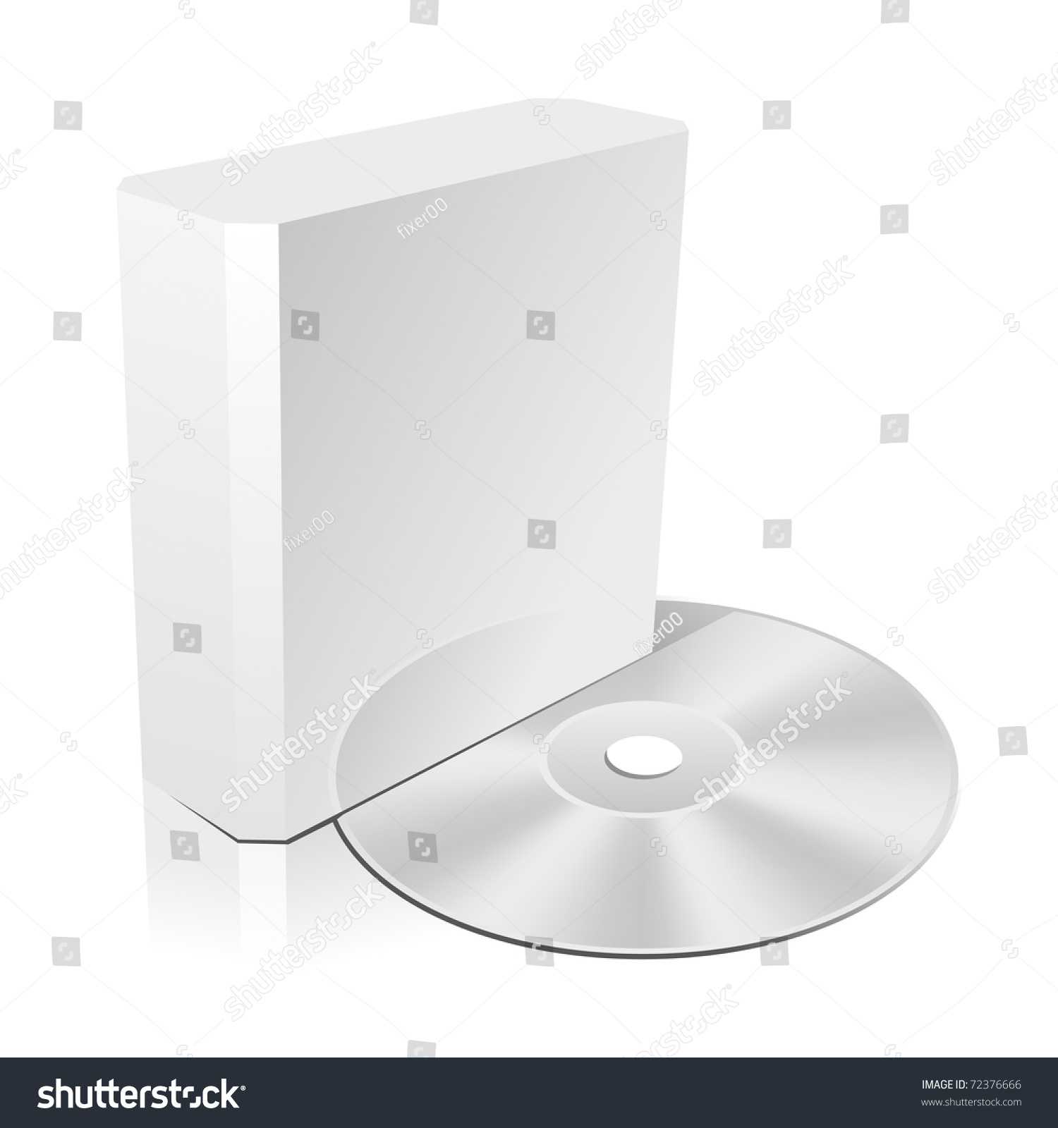 Software Cd Box Blank Template. Vector Illustration (Eps 8 ...