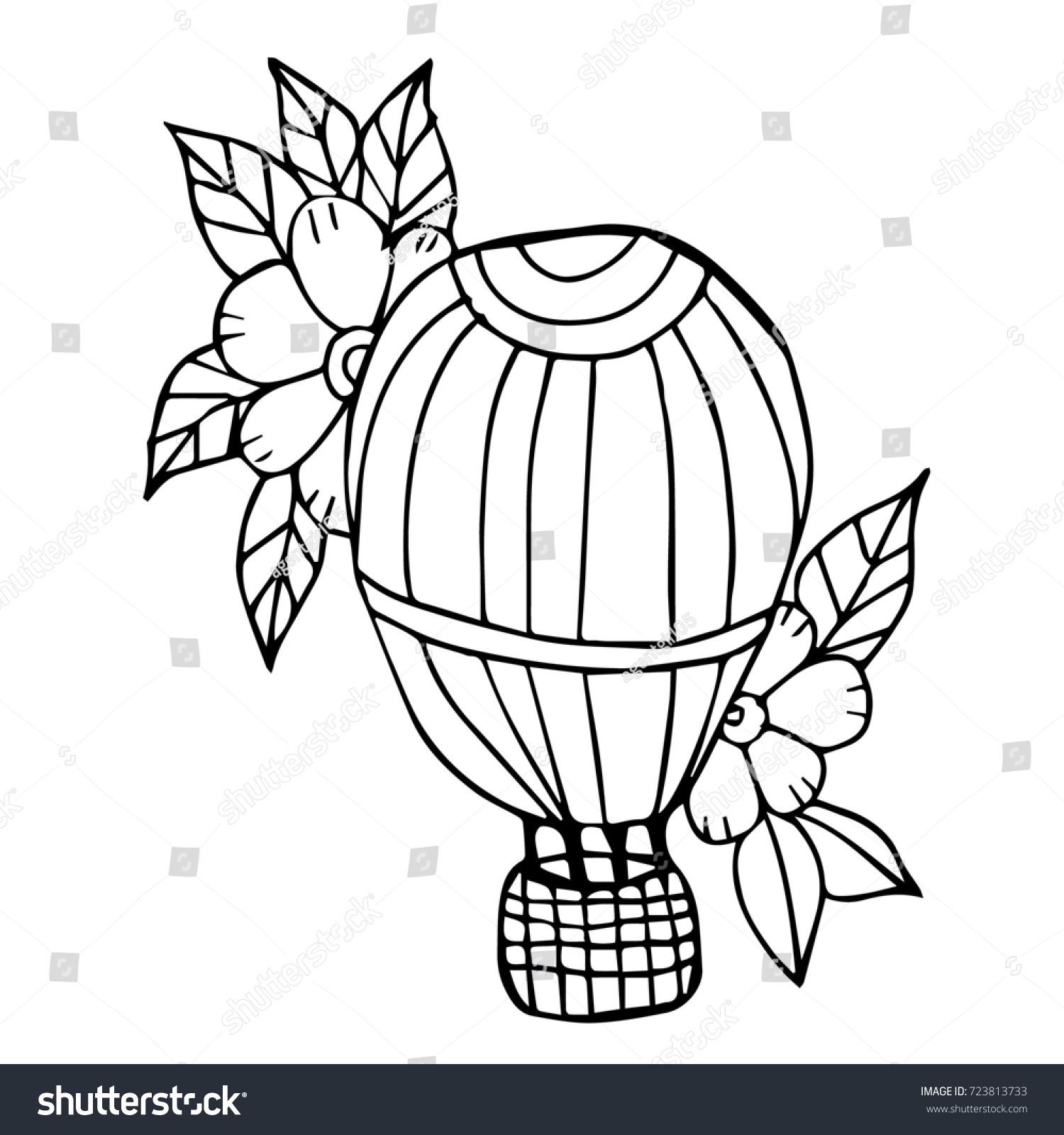 Balloon Illustration Hot Air Balloon Vector Stock Illustration ...
