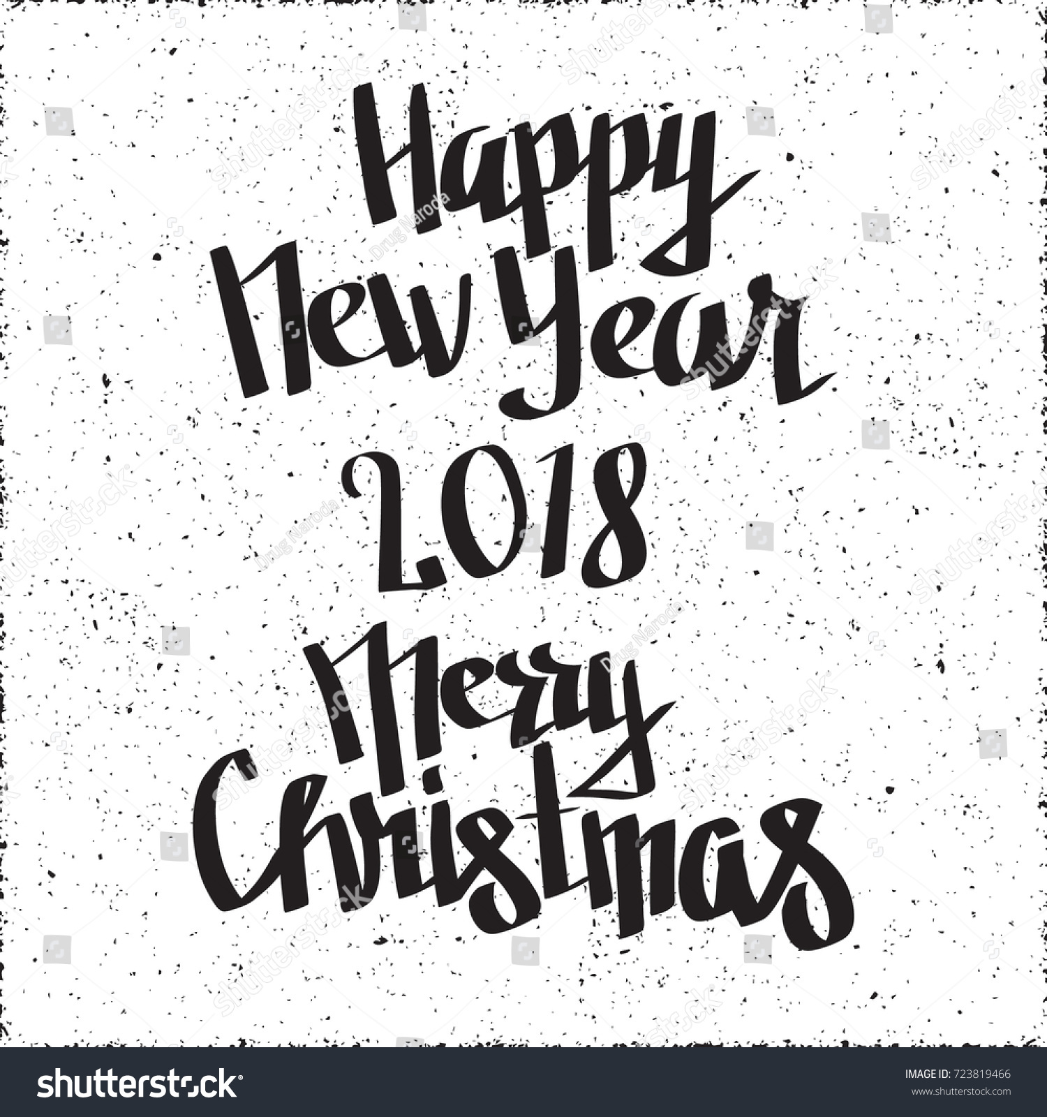 Christmas Graffiti Background.Happy New Year 2018 Merry Christmas Stock Vector Royalty