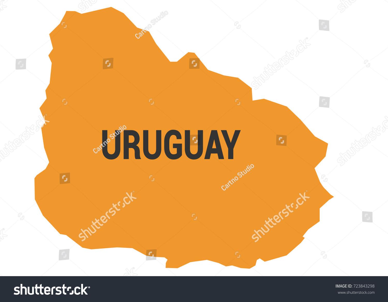 Uruguay Political Map Stock Vector 723843298 Shutterstock