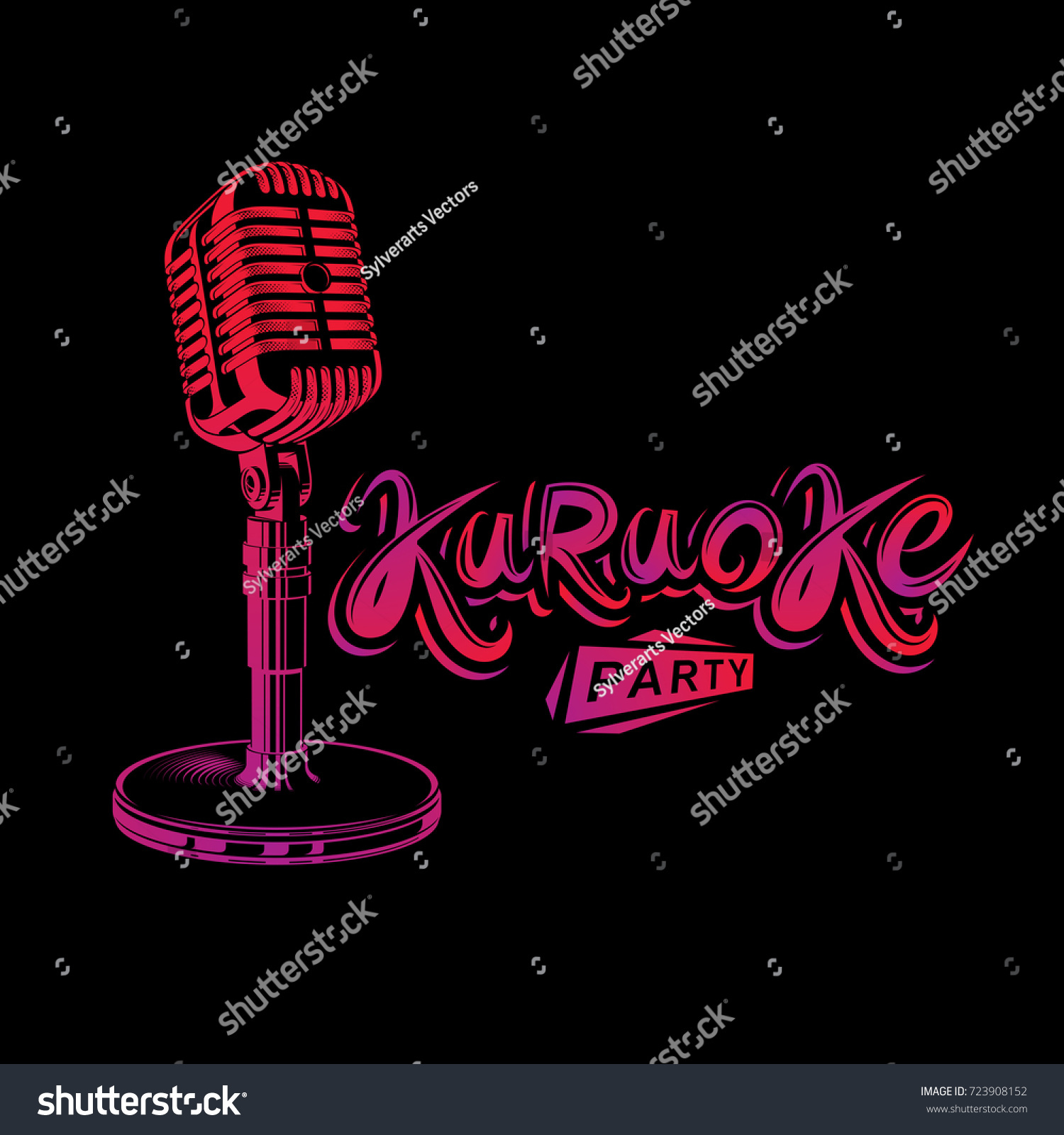 Leisure relaxation lifestyle presentation karaoke party stock leisure and relaxation lifestyle presentation karaoke party invitation poster created with stage microphone illustration monicamarmolfo Image collections