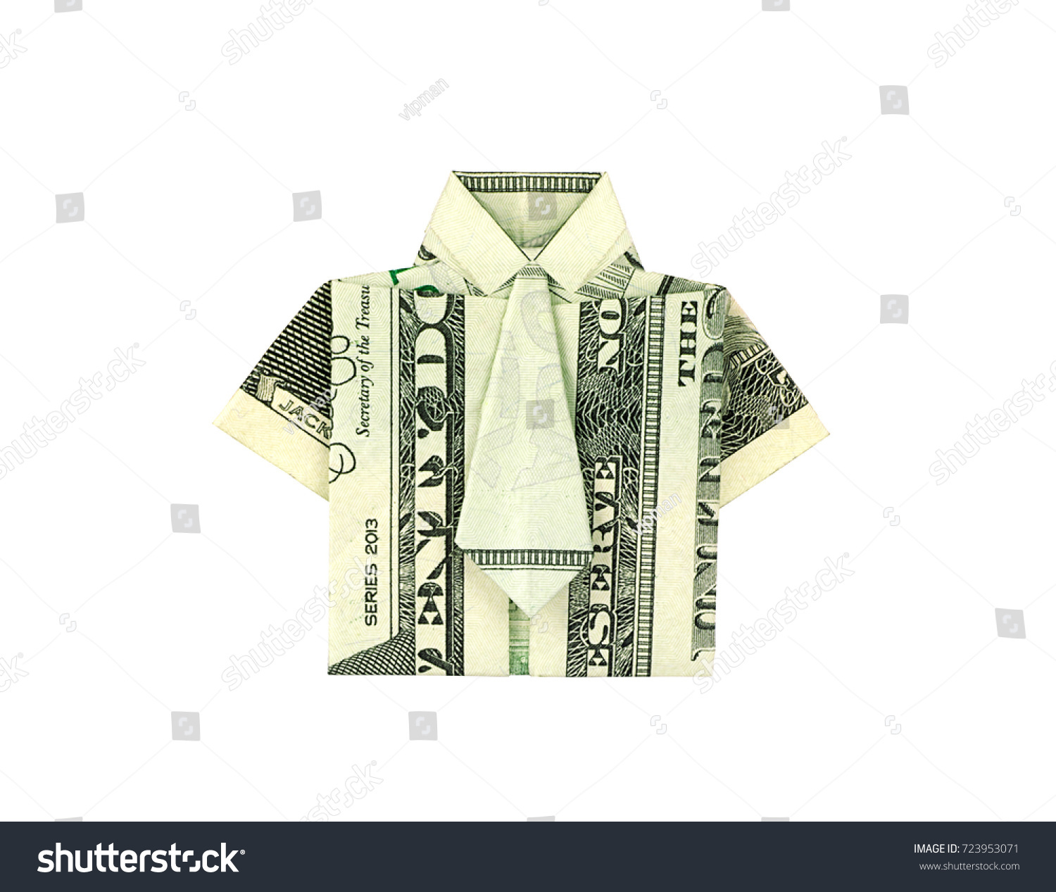 Money Origami Shirt and Tie Folding Instructions | 1267x1500