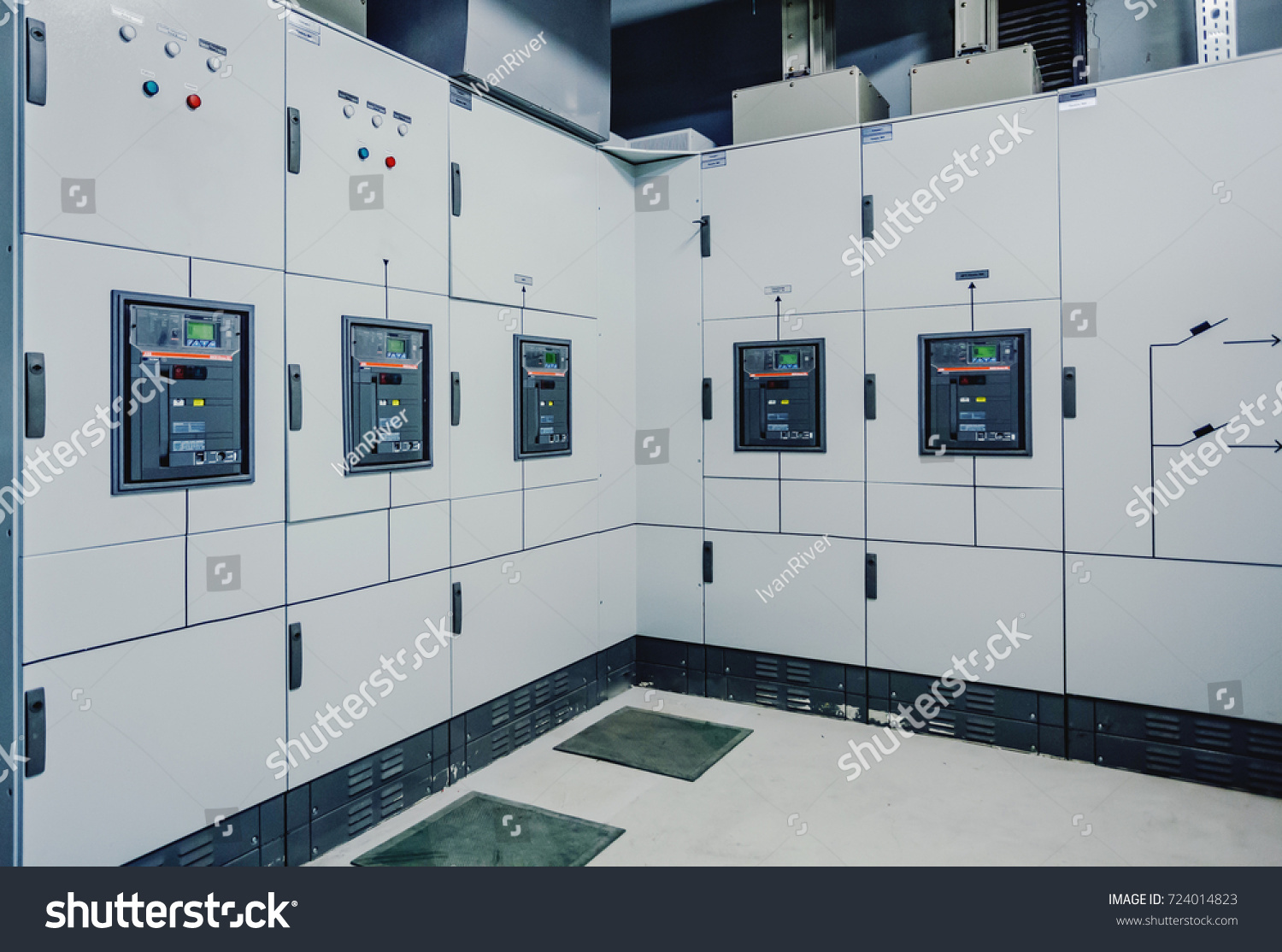 Low Voltage Switchgear Power Plant Electrical Stock Photo 724014823 ...