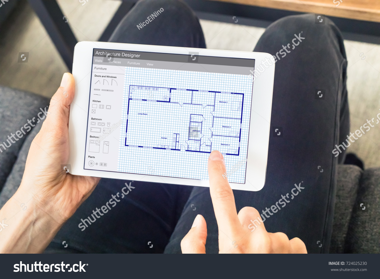 Person Sketching Home Design Architecture Project Stock Photo ...