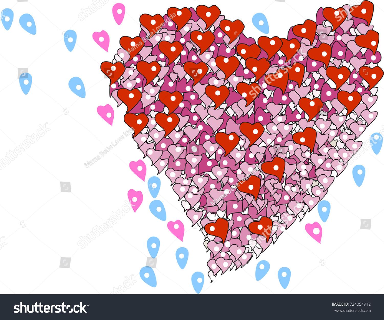 Location Love Image Heart Shape Location Symbol Concept Stock Vector