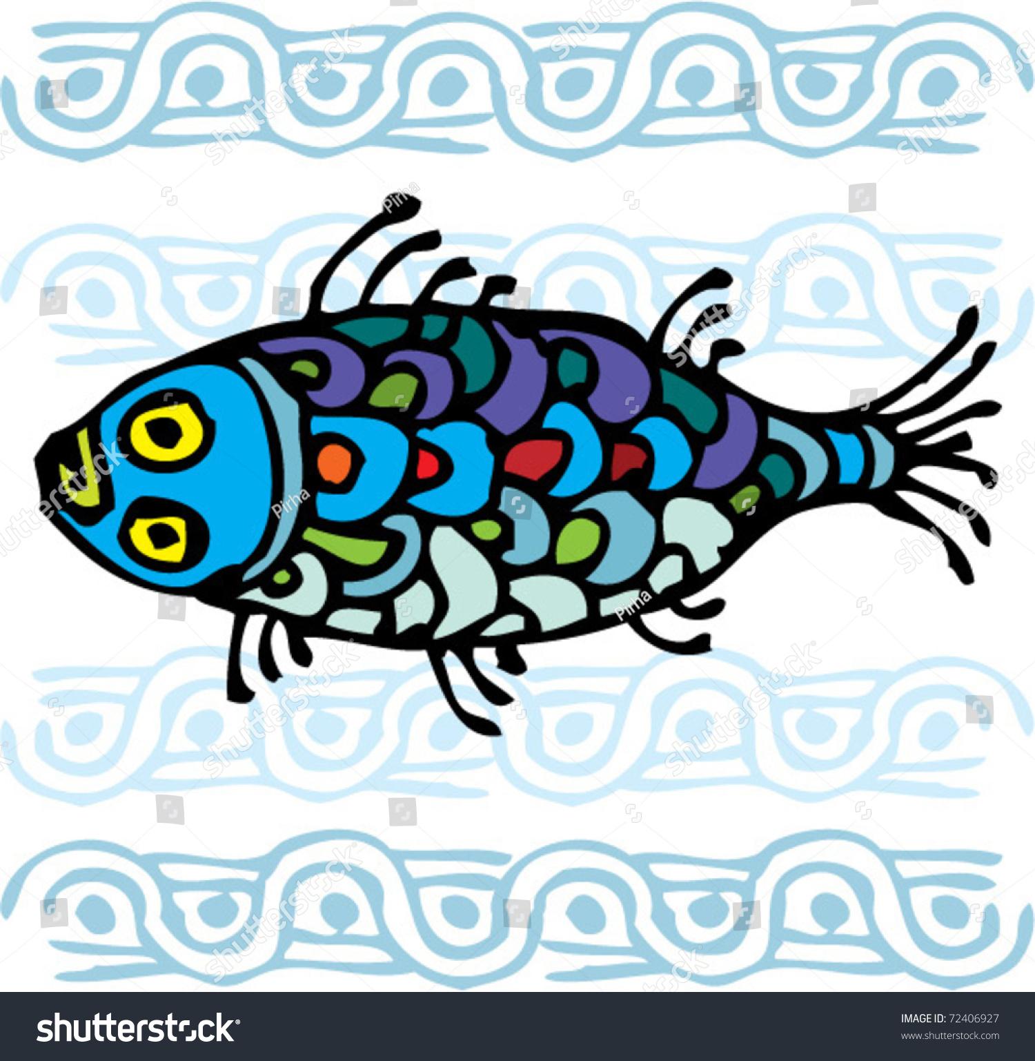 colorful fish ornament - Colorful Fish Book
