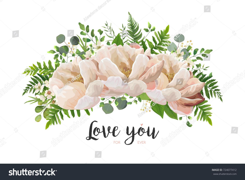 Flower bouquet vector design element peach stock vector royalty flower bouquet vector design element peach pink rose peony wax flowers eucalyptus izmirmasajfo
