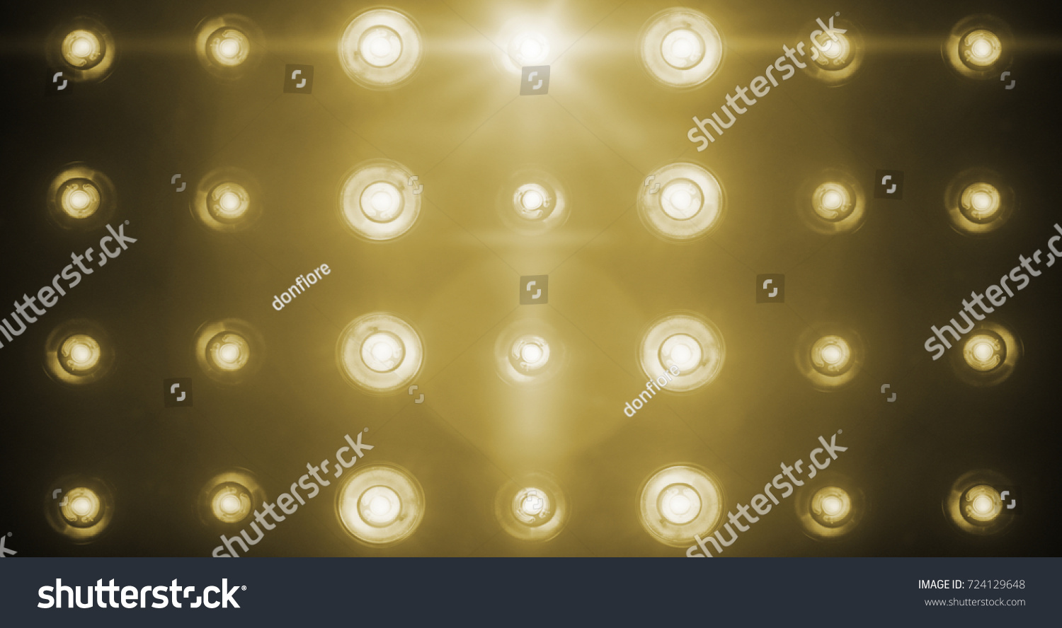 Flashing Shiny Golden Stage Lights Entertainment Spotlight Projectors In The Dark Gold Warm Soft