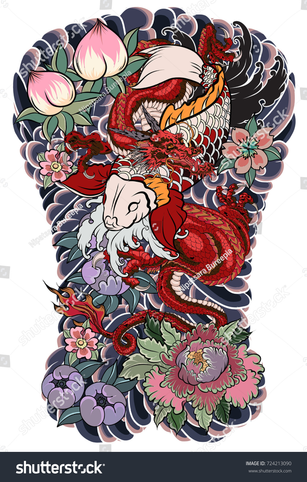 100 koi to dragon tattoo design 80 attractive tattoo designs of 2016 tattoos ideas and. Black Bedroom Furniture Sets. Home Design Ideas