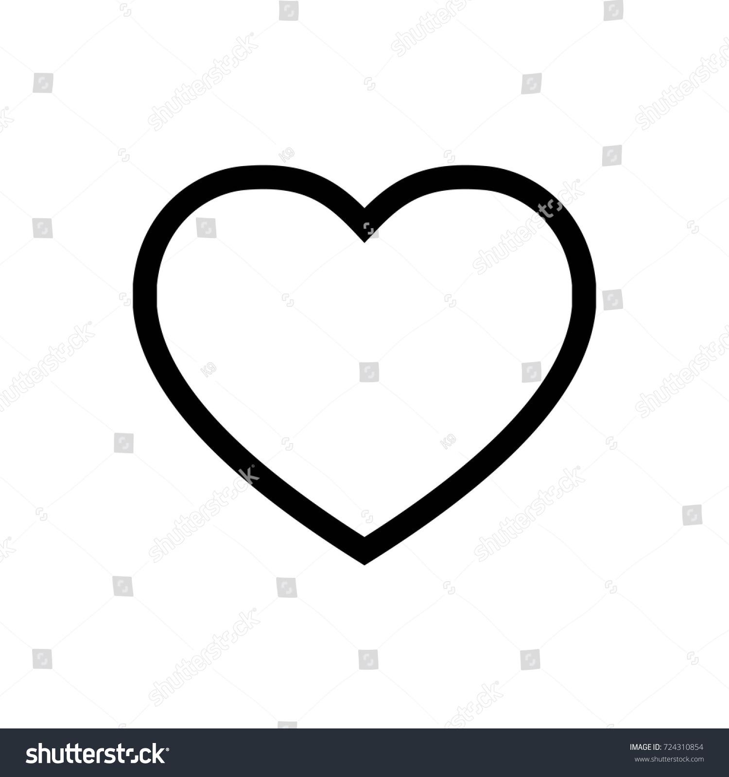 Heart icon vector fat design editable stock vector 724310854 heart icon vector fat design editable stroke 512x512 pixel perfect biocorpaavc