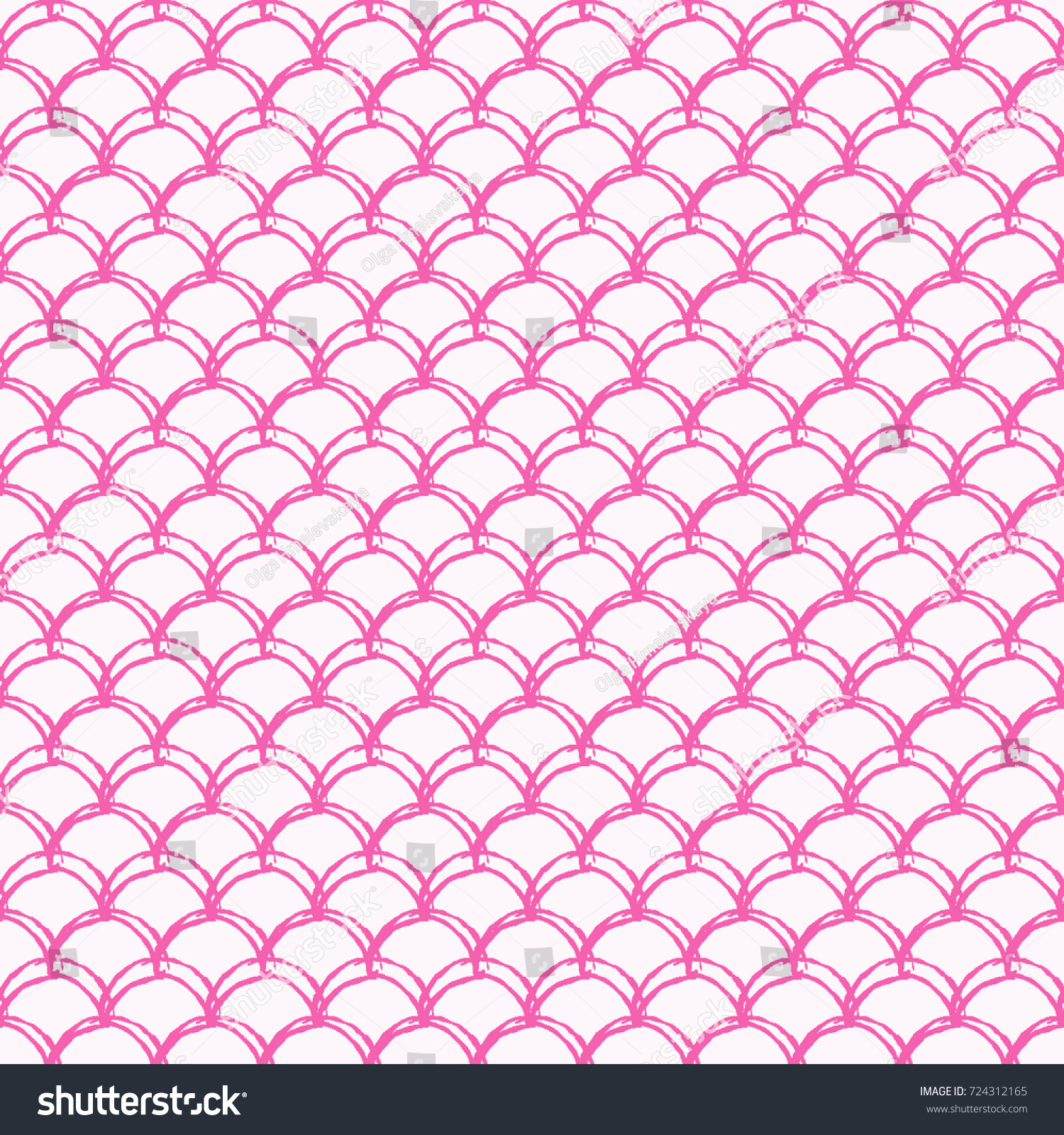 Little Mermaid Seamless Pattern Fish Skin 724312165