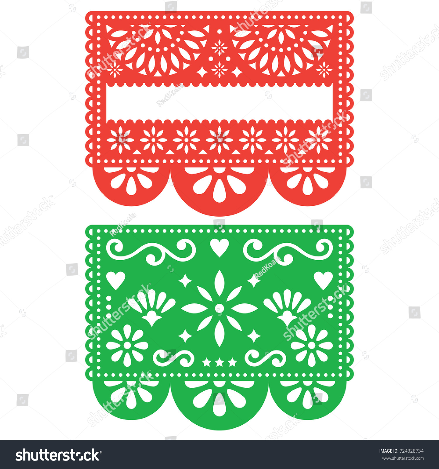 mexican papel picado vector template design stock vector 724328734 shutterstock. Black Bedroom Furniture Sets. Home Design Ideas