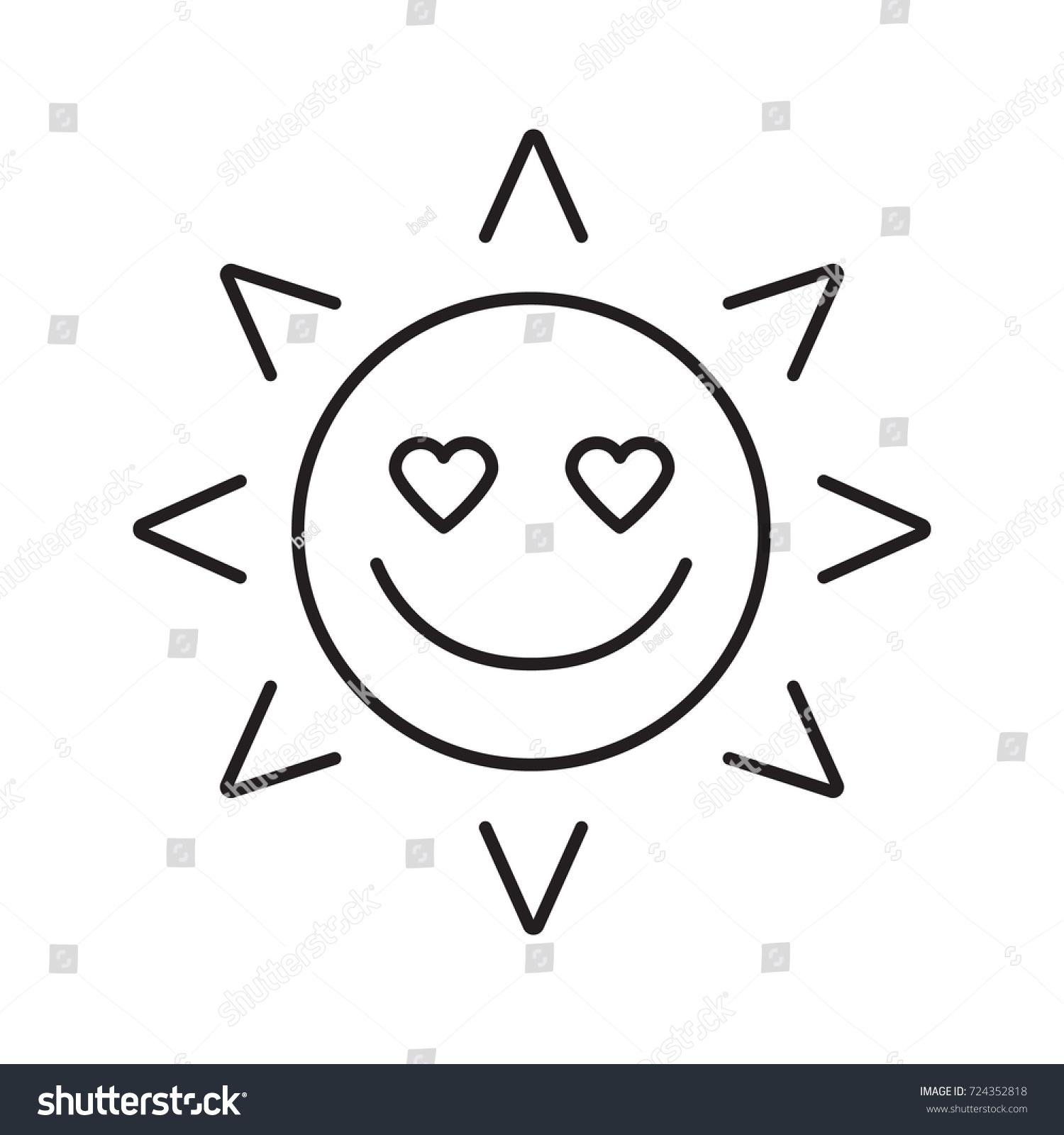 Love sun smile linear icon thin stock illustration 724352818 in love sun smile linear icon thin line illustration good romantic mood contour biocorpaavc Images